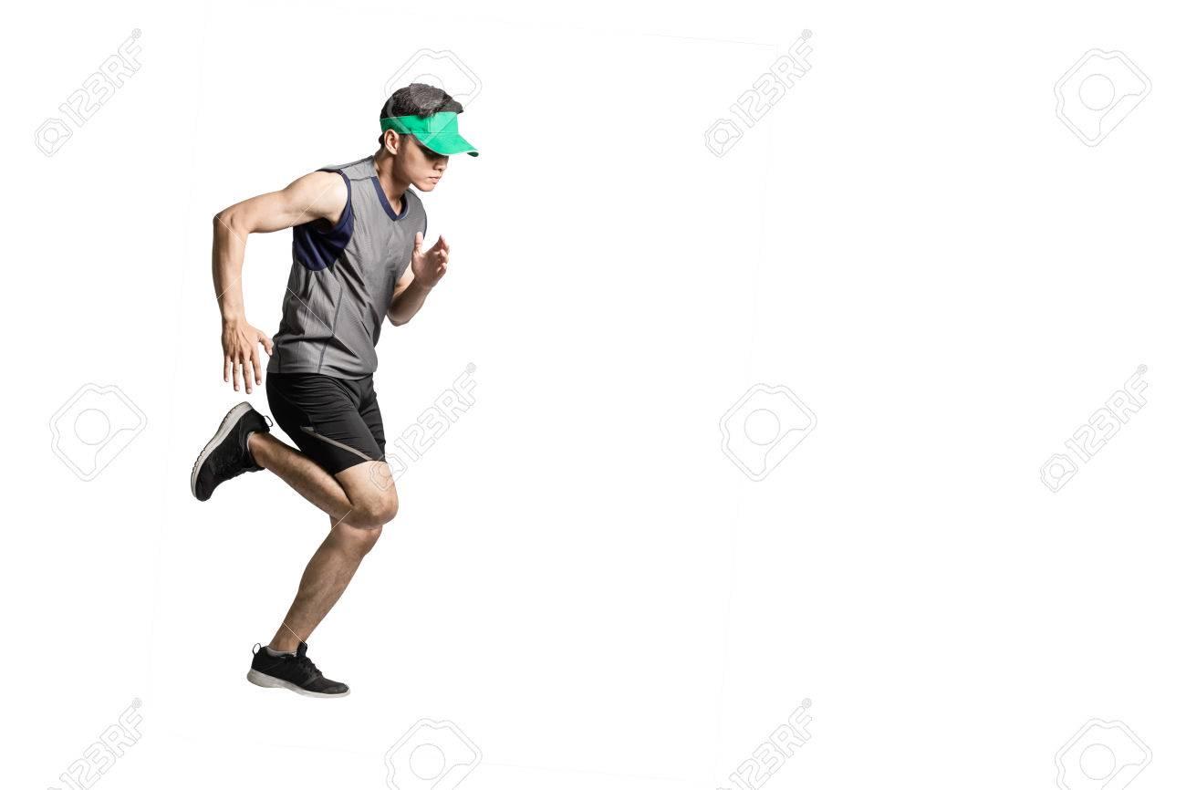 Sport Asiatique portrait d'un homme de sport asiatique vêtu de vêtements de sport et
