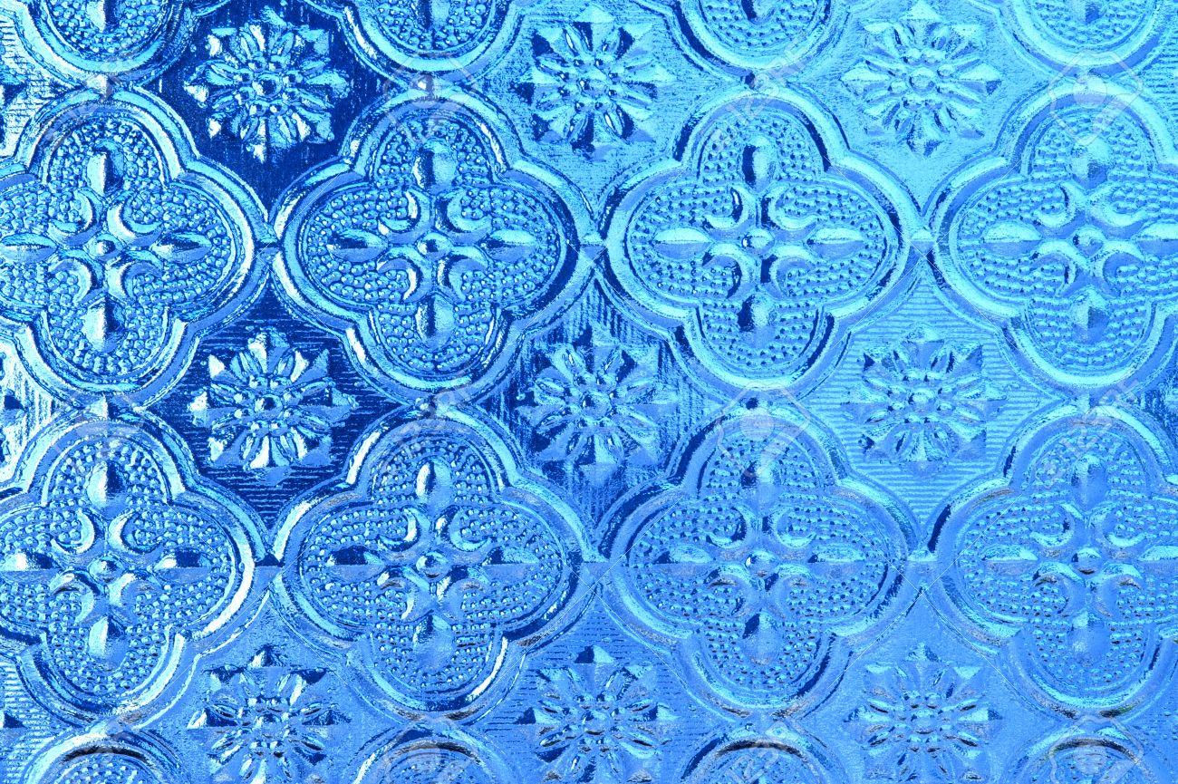Blue Glass Window Texture