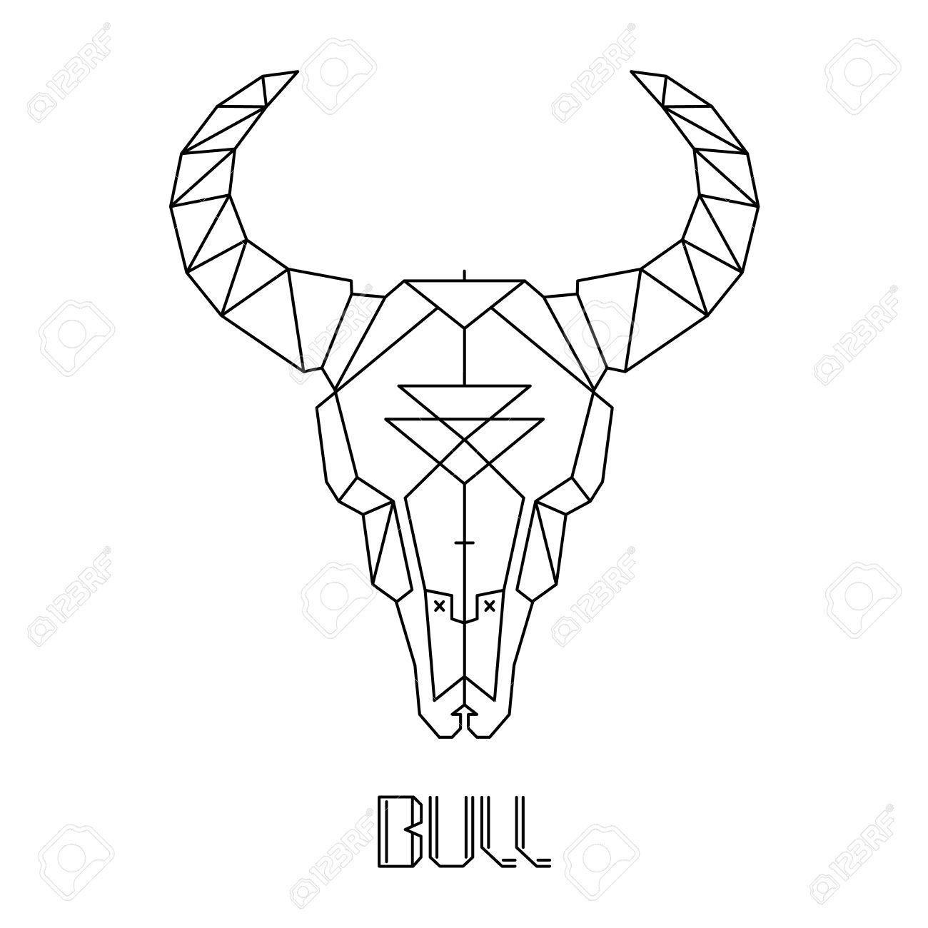 bull skull cow skull vector print on t shirt royalty free