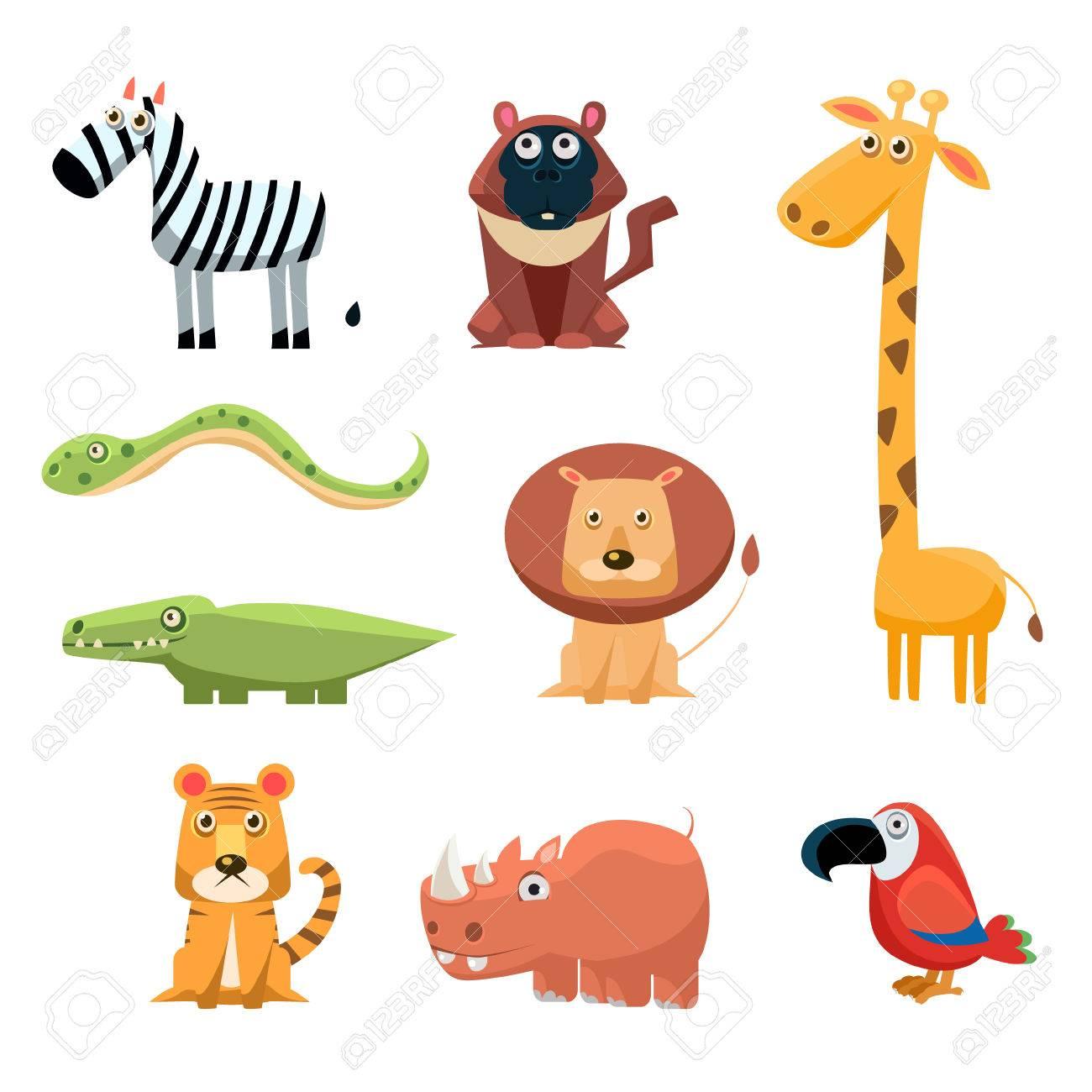 african animals fun cartoon clip art collection royalty free rh 123rf com free cartoon clip art for kids free cartoon clip art people
