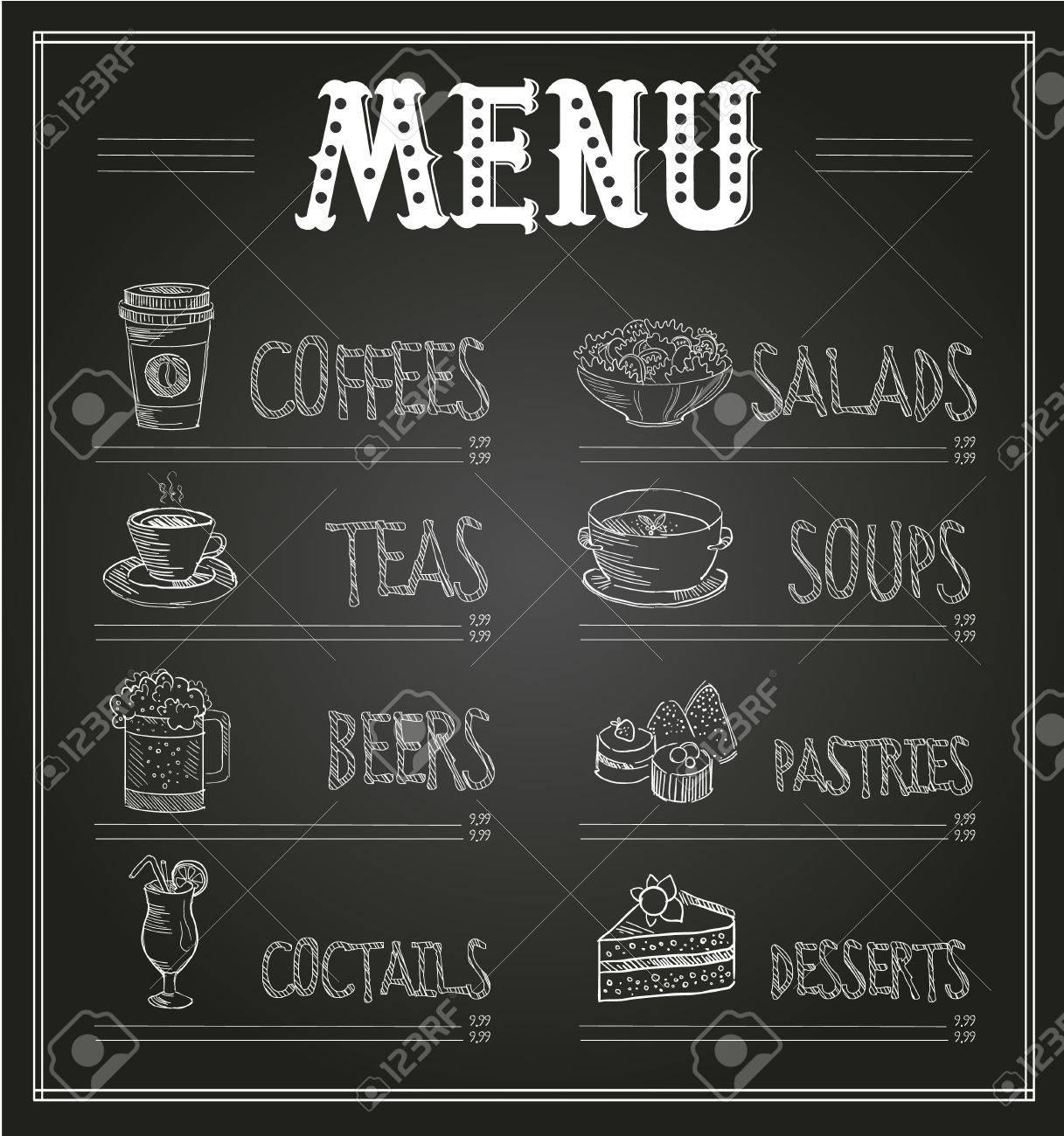 Sample Chalkboard Menu Template Famous Restaurant Menu Templates Word  Contemporary Professional 61