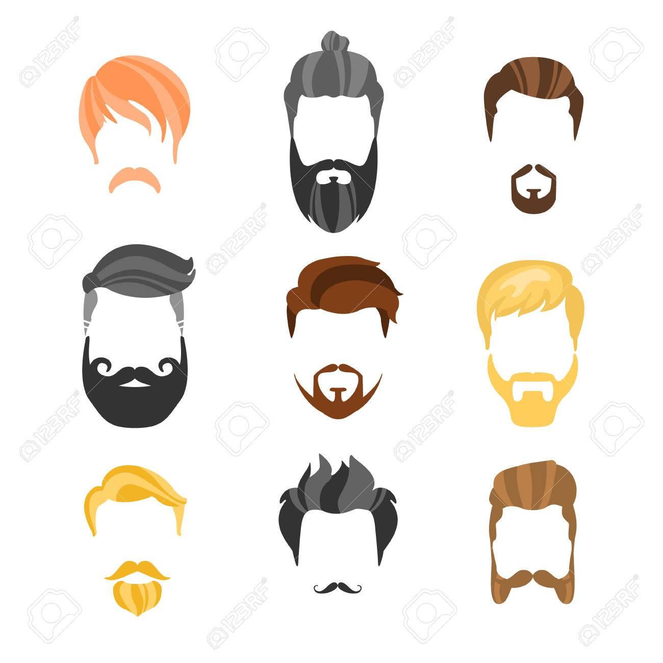 Männliche Frisur Constructor Für Gesicht Hipster Collection.Hair ...