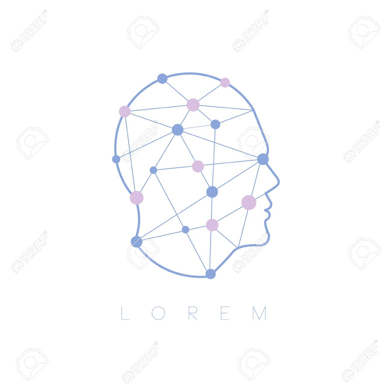 62528968 geometric shapes inside human head abstract design pastel icon man head shape filled with patterns a geometric shapes inside human head abstract design pastel icon