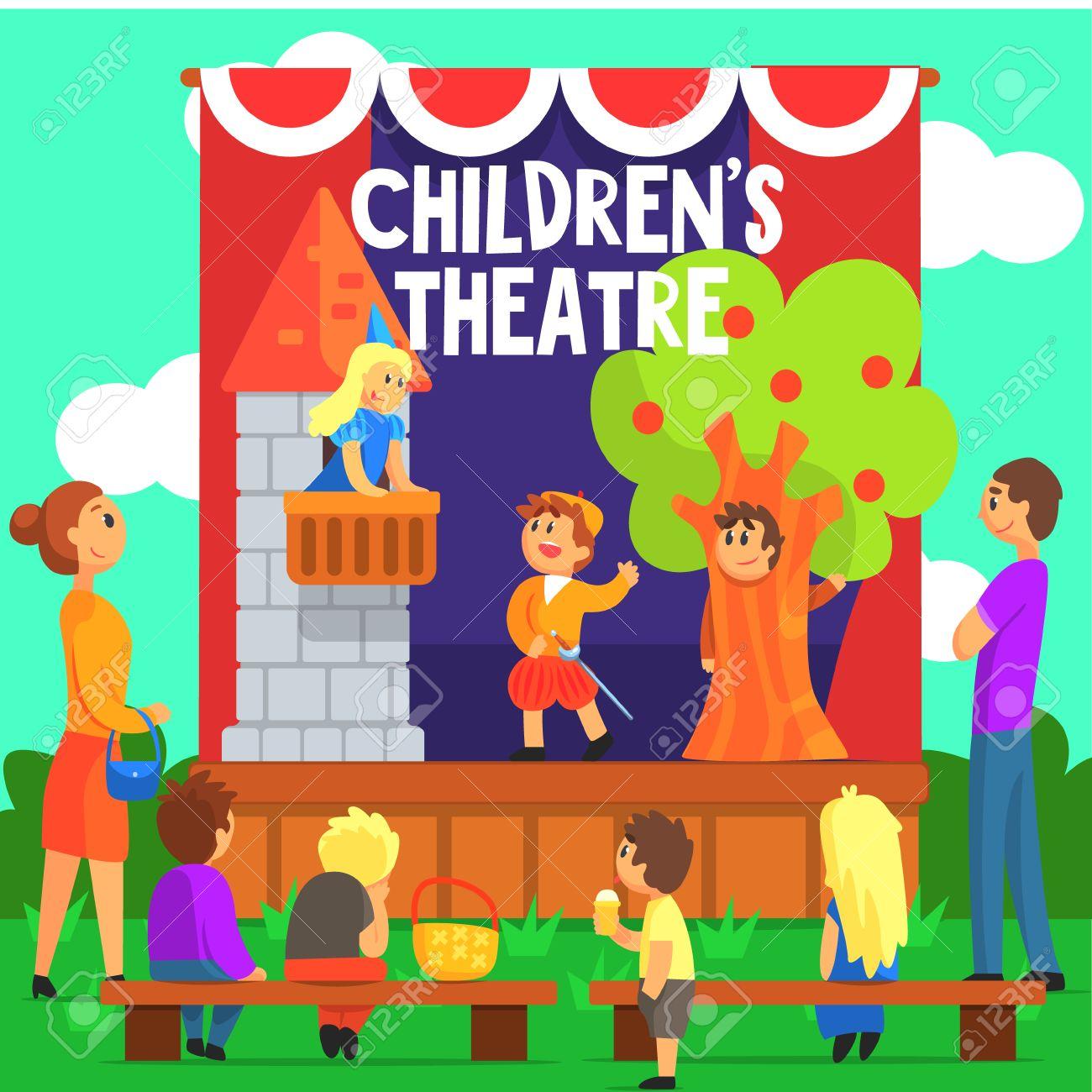 Resultado de imagen de teatro niños dibujo