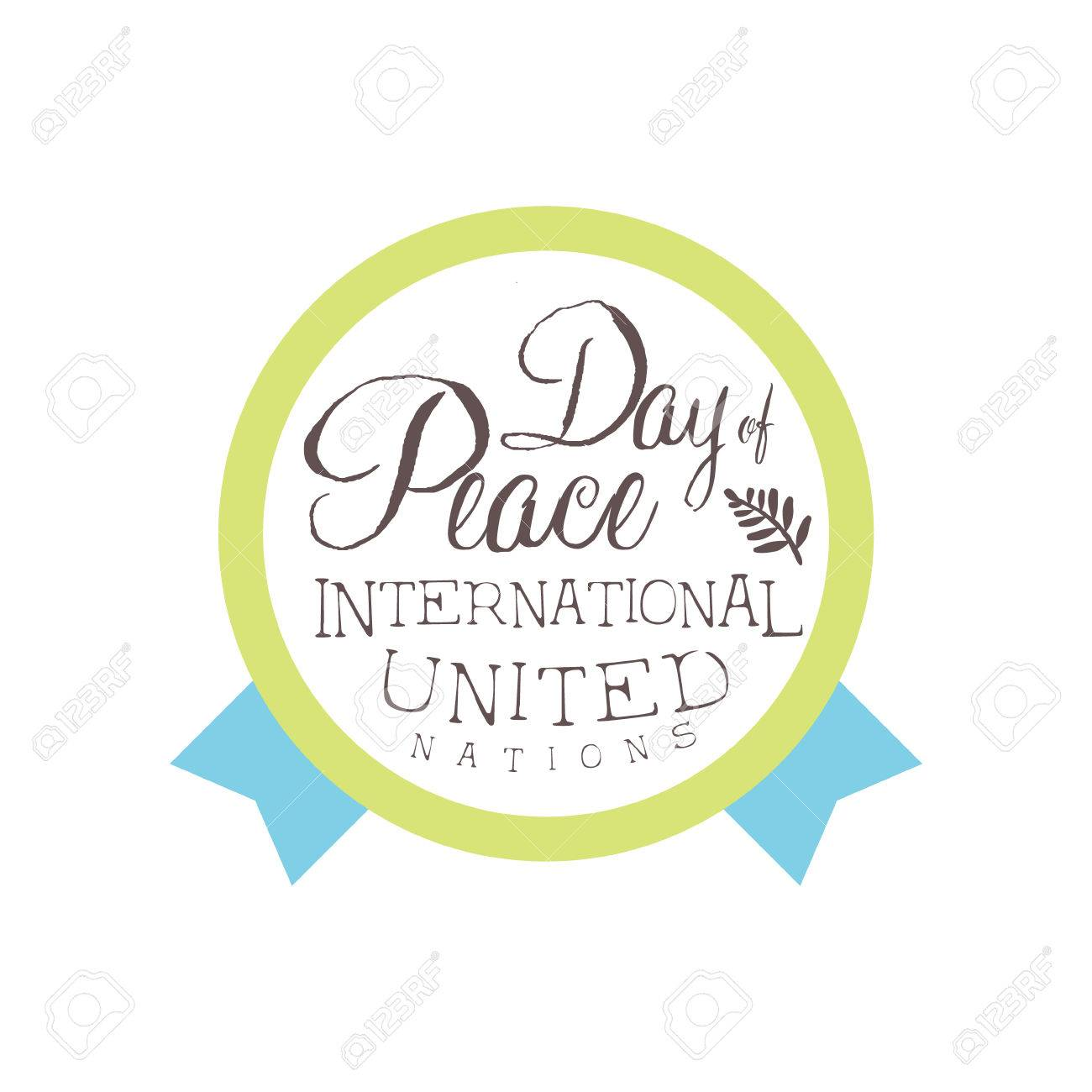 international peace day label designs in pastel colors vector
