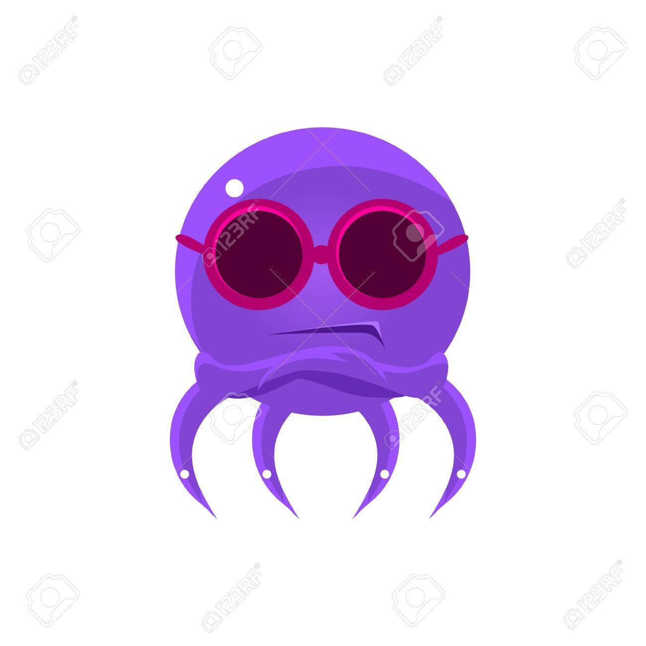 Escéptico divertido pulpo en tonos Emoji. Emoticon lindo del vector en el  estilo infantil de cdf11f766a6
