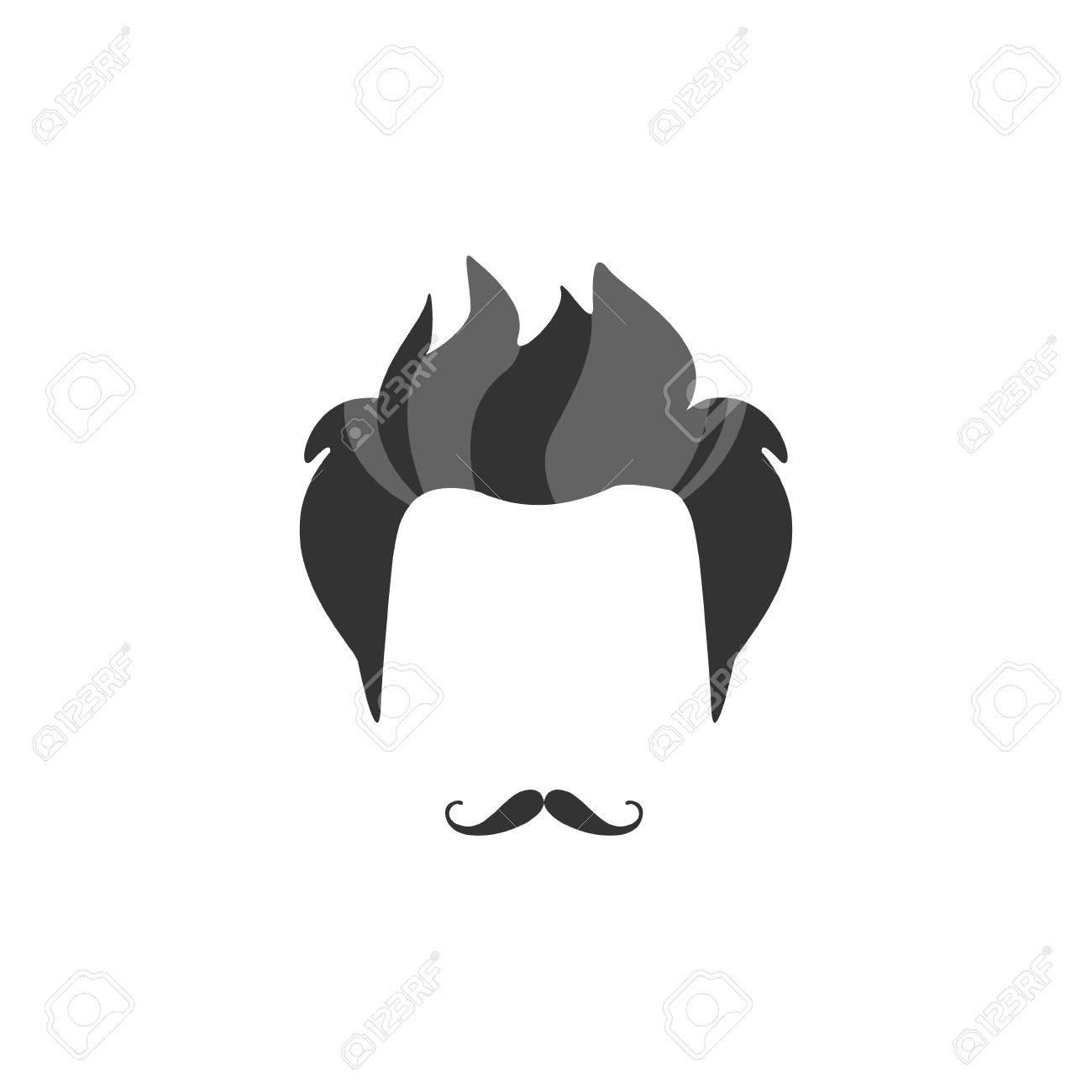 Hipster Male Haar Und Bart Stil Mit Französisch Moustache.Hair, Bart ...