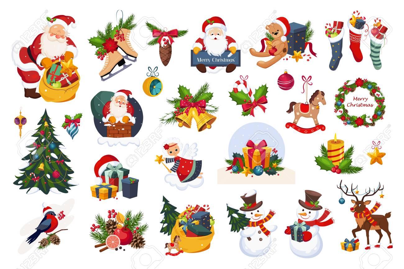 Obra Clasica De Navidad Hermosas En El Fondo Blanco Coloridos - Imagenes-infantiles-de-navidad