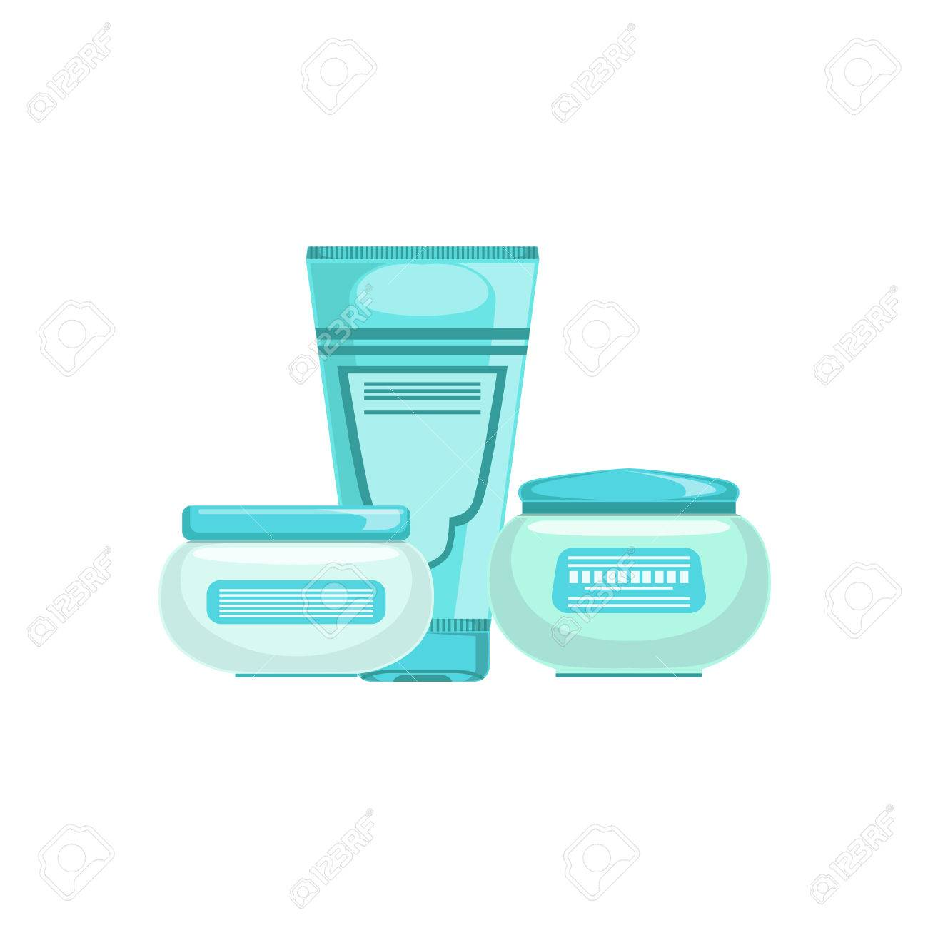 Set Of Specialized Dermatological Skincare Cosmetics Line For