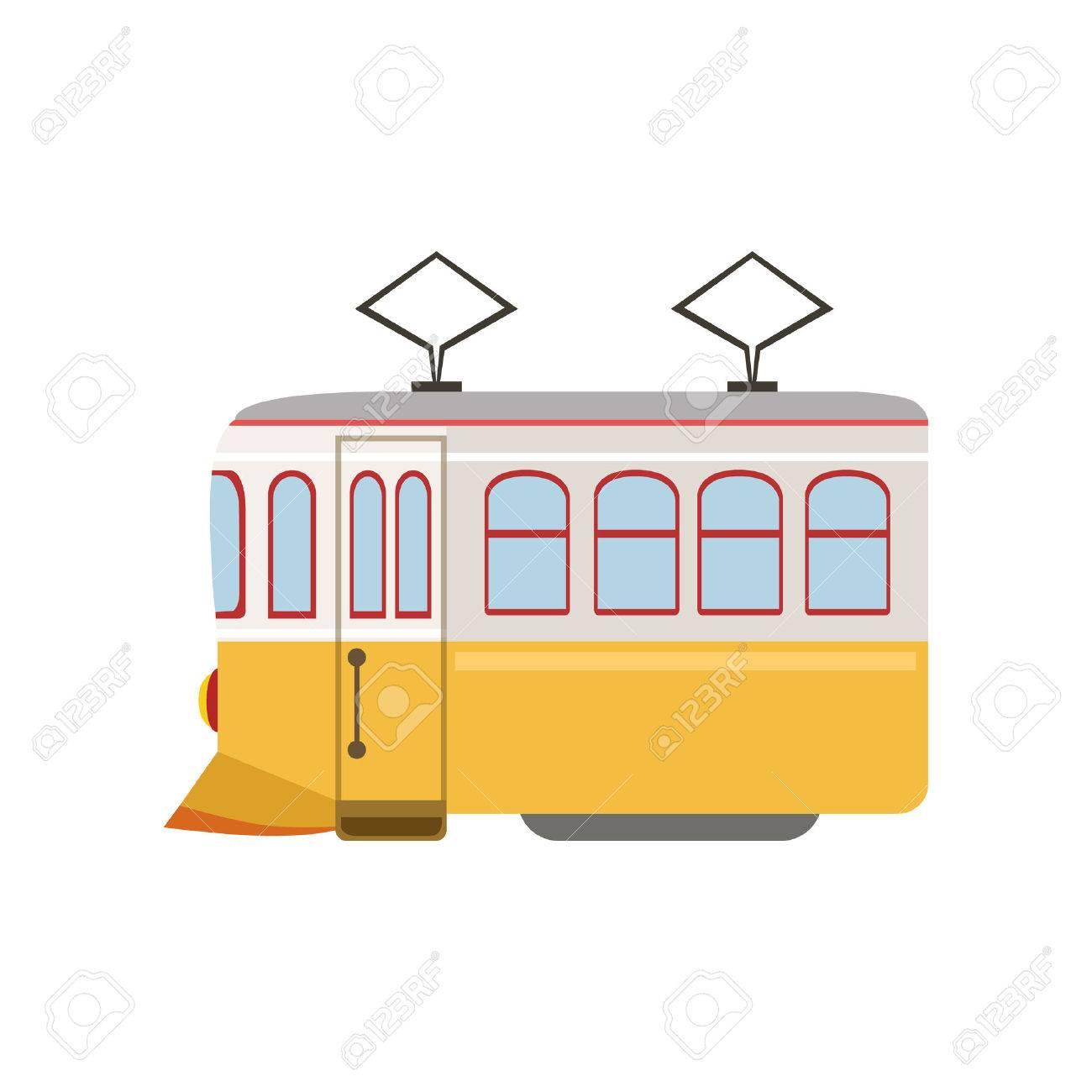 Tram Public Transportation Portuguese Famous Symbol Touristic