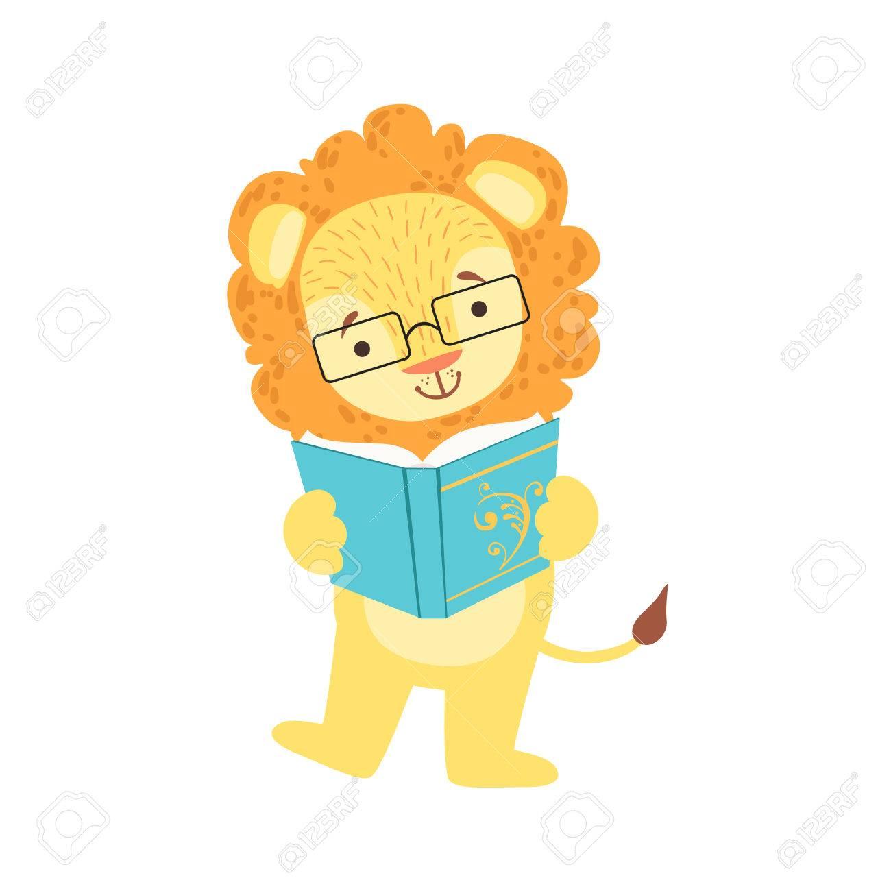 León Sonriente Ratón De Biblioteca Zoológico De Personaje Llevaba