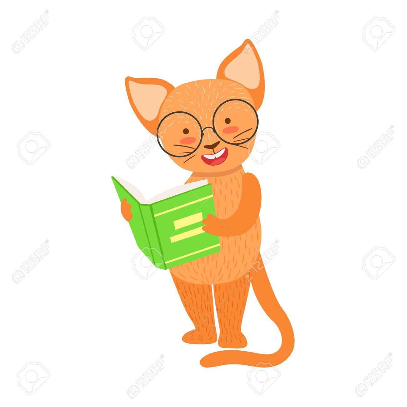 Gato Rojo Sonriente Ratón De Biblioteca Zoológico De Personaje