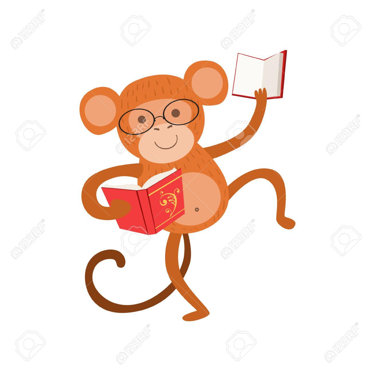 Mono Sonriente Ratón De Biblioteca Zoológico De Personaje Llevaba