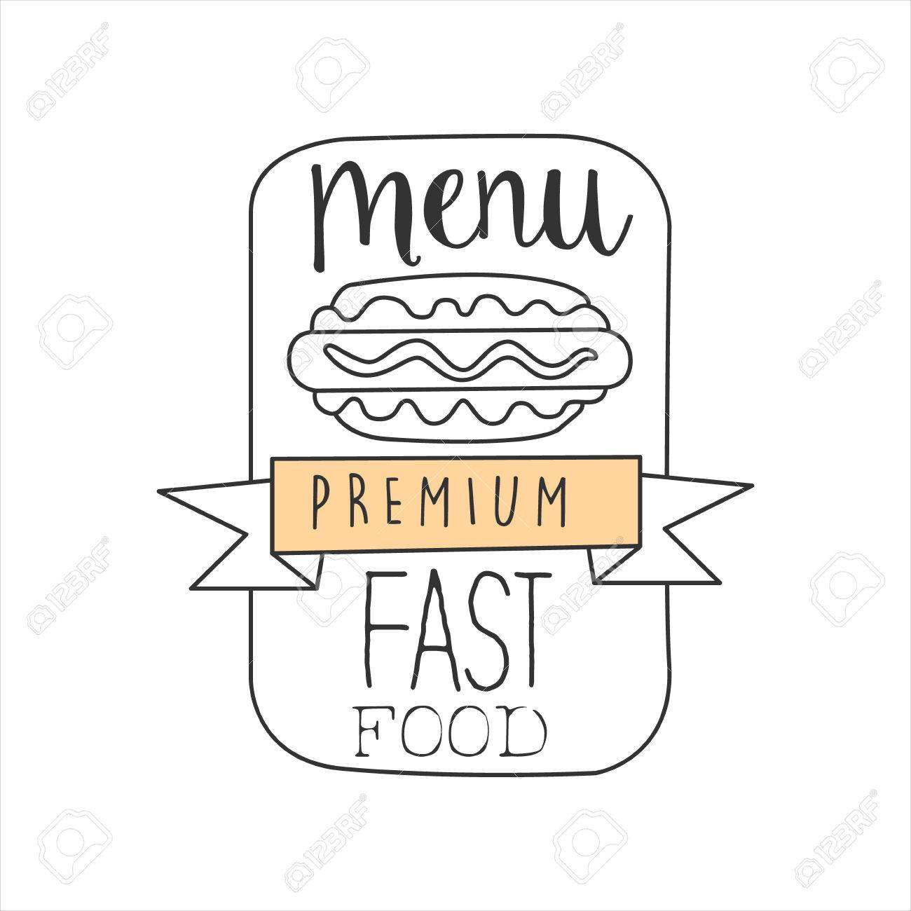 Hot Dog In A Frame With The Ribbon Premium Quality Fast Food ...