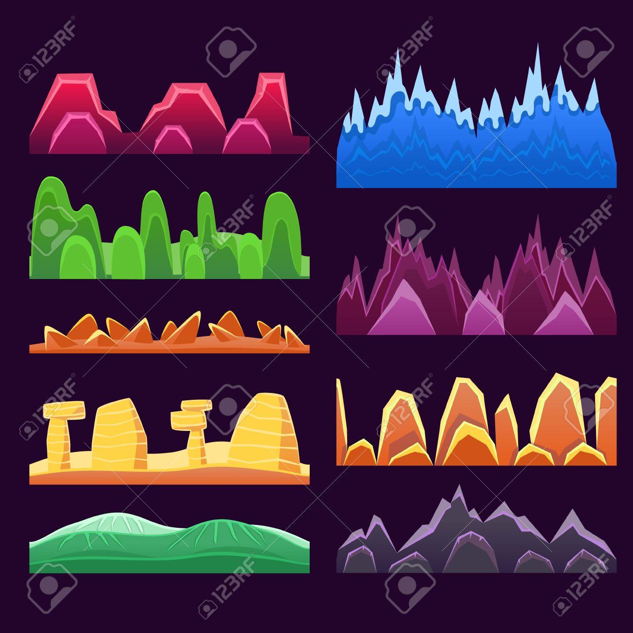 Montañas Exóticas Y Paisajismo Desierto Inconsútiles Modelos Fondo ...