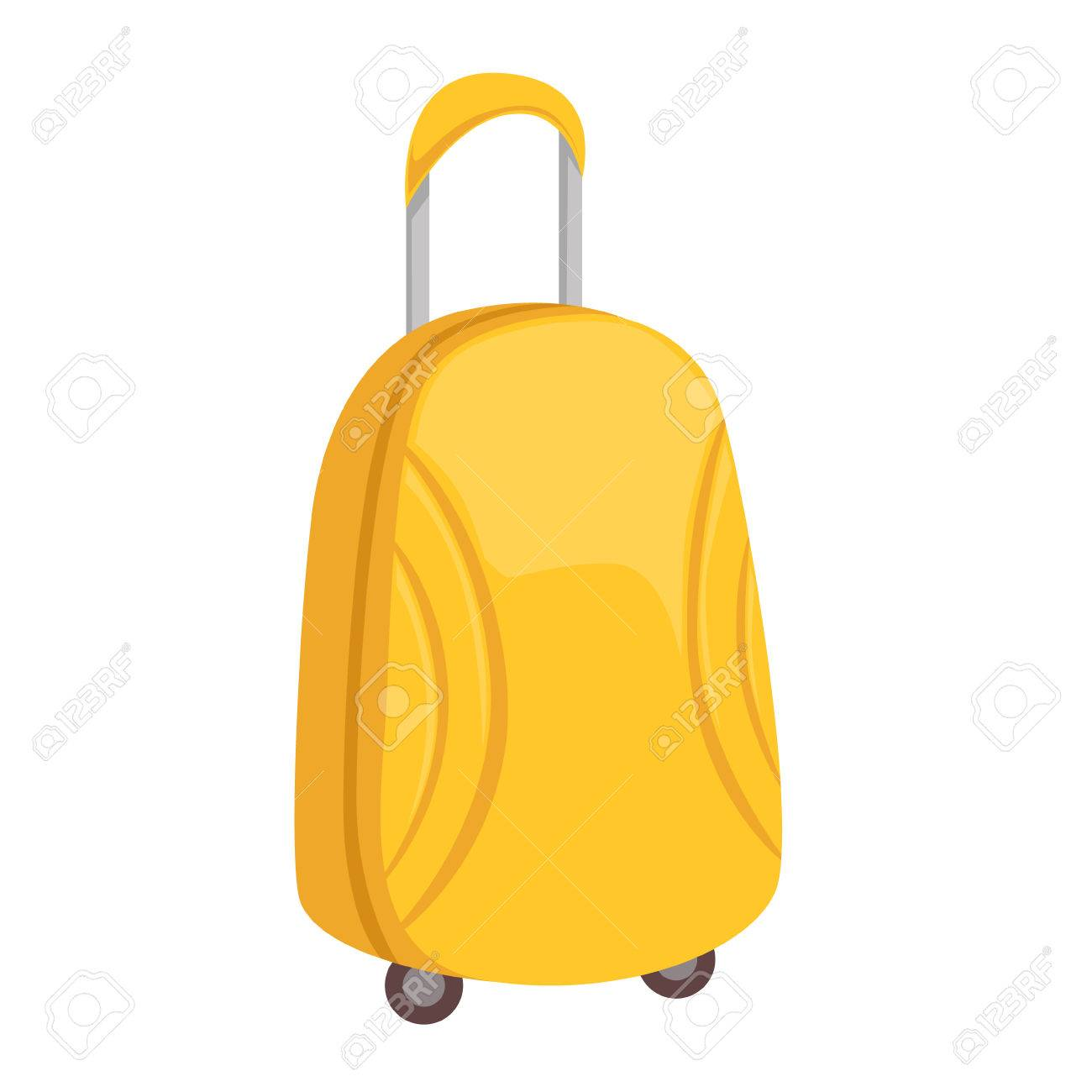 3e31838fa907 Stylish Yellow Suitcase On Wheels With Telescopic Handle Item..