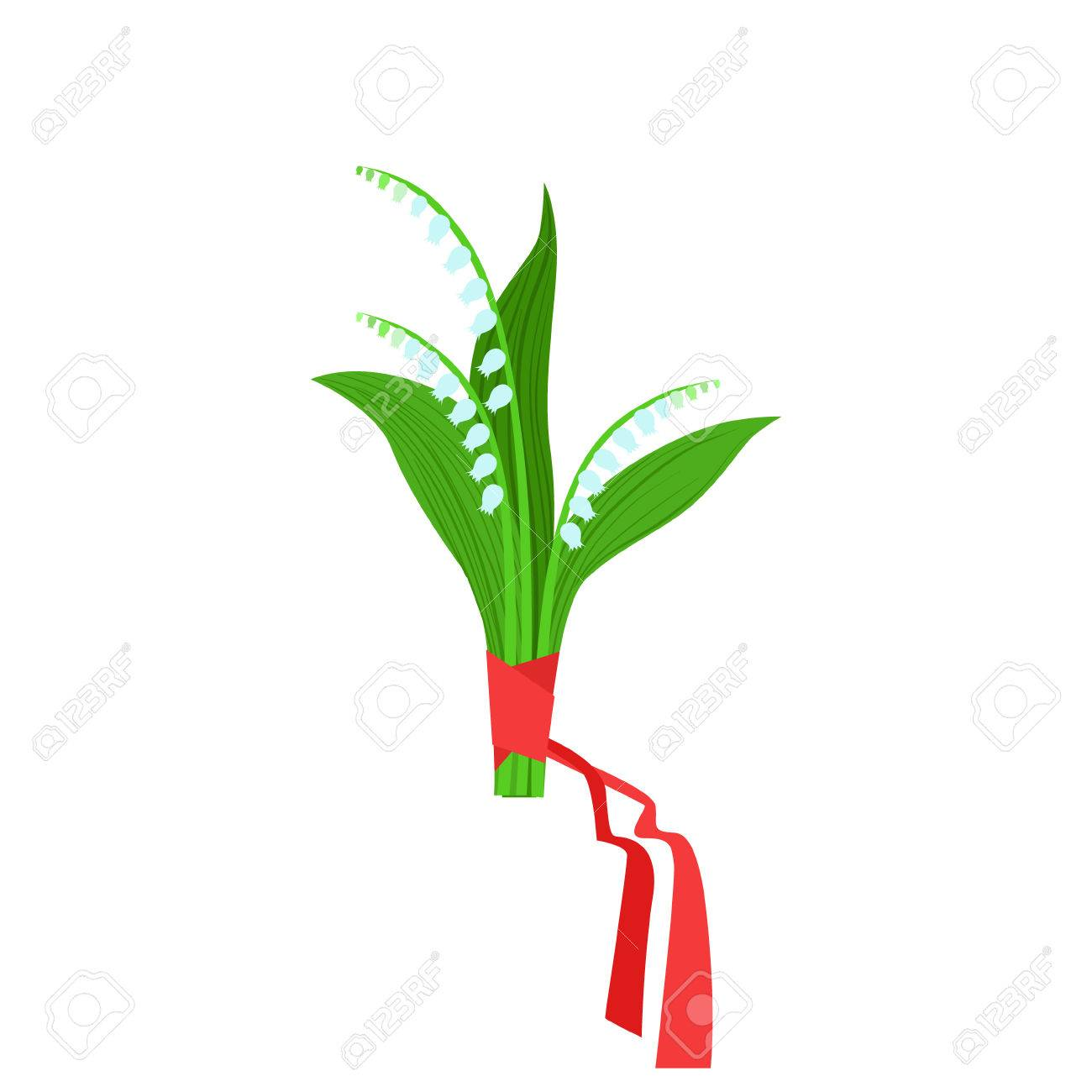 Lily of the valley flower bouquet tied with red ribbon flower lily of the valley flower bouquet tied with red ribbon flower shop decorative plants assortment izmirmasajfo