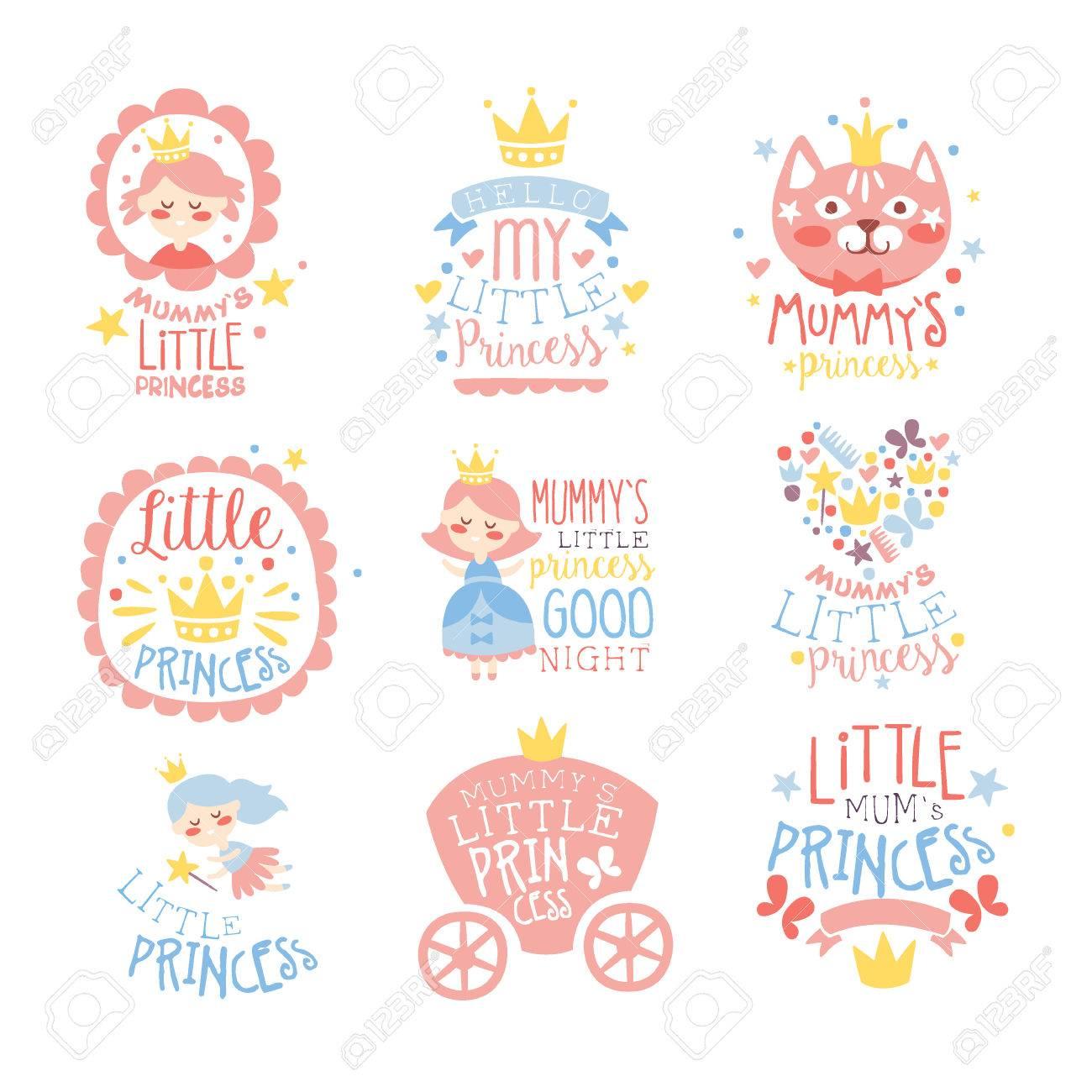 Kleine Prinzessin Satz Drucke Für Säuglingsmädchen-Zimmer Oder ...