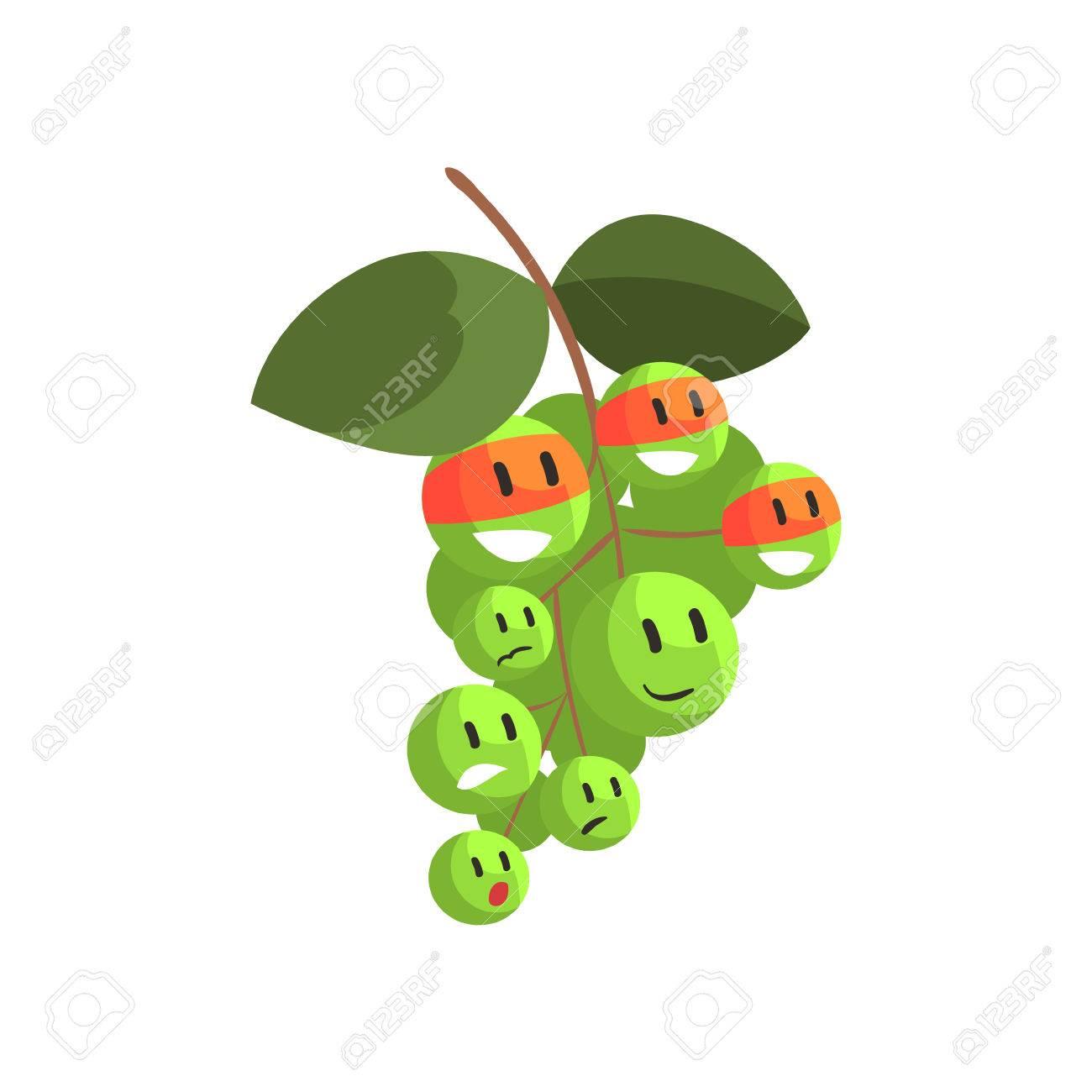 Grüne Trauben Im Gesichtsmasken, Teilabschnitt Gemüse In Der ...