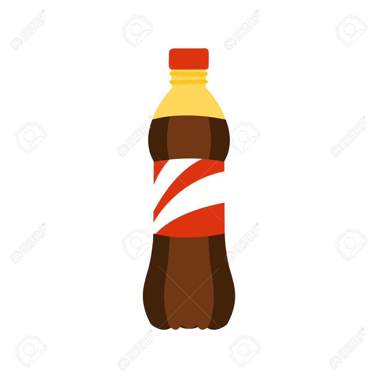 Plastikflasche Mit Süßer Soda-Getränk-ursprünglicher Karikatur-Ikone ...