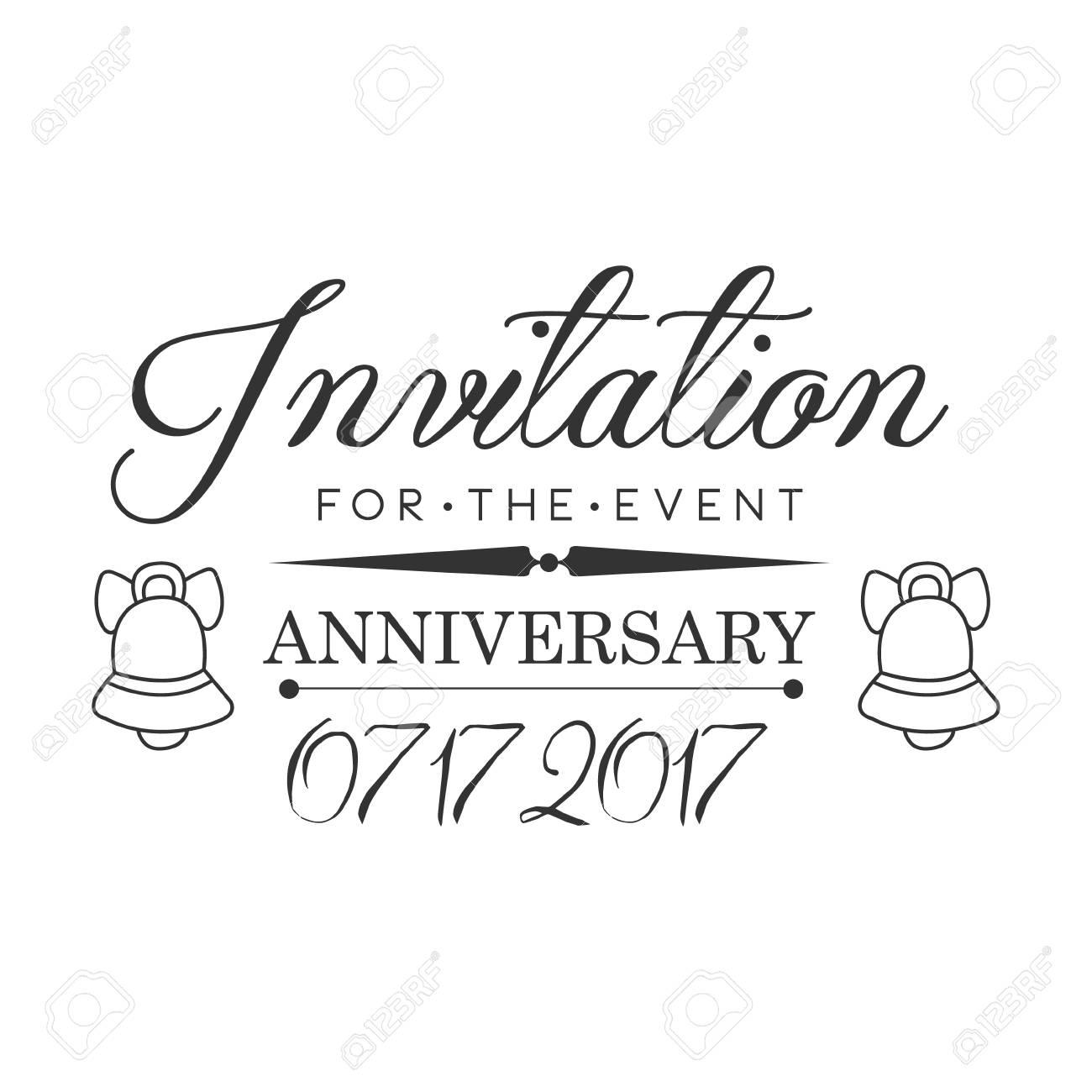 Fiesta De Aniversario De Graduación Blanco Y Negro Plantilla De Diseño De Tarjeta De Invitación Con Texto Caligráfico