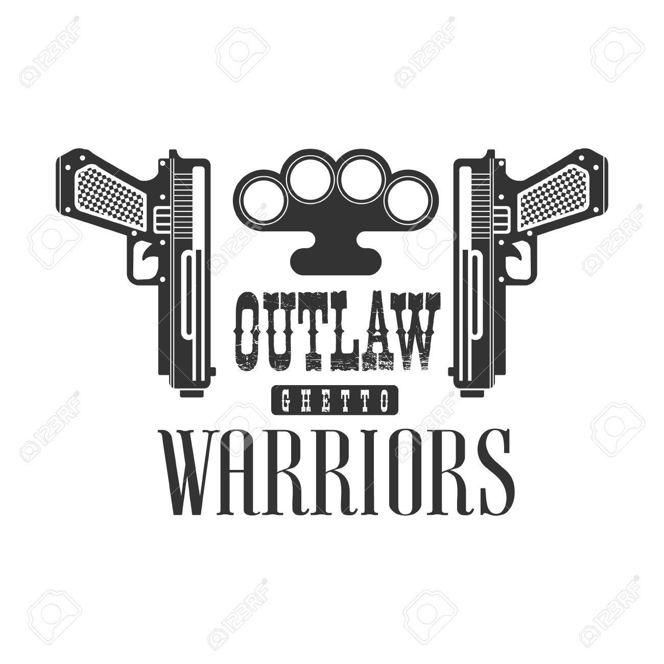 Criminal outlaw street club black and white sign design template criminal outlaw street club black and white sign design template with text guns and brass biocorpaavc Images