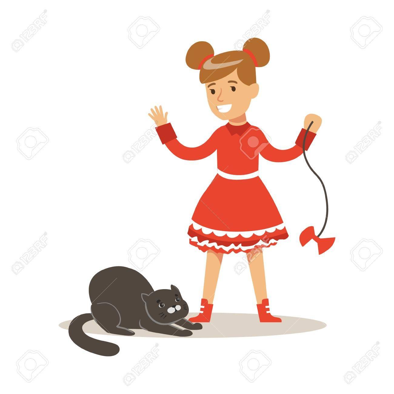 Noir fille rouge chatte