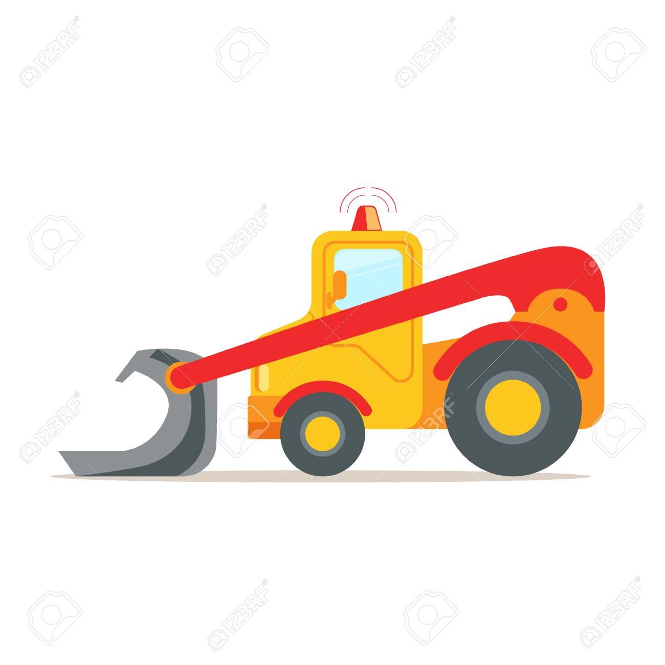Escavadora Amarela Equipamento De Maquinas Para Construcao Vetor