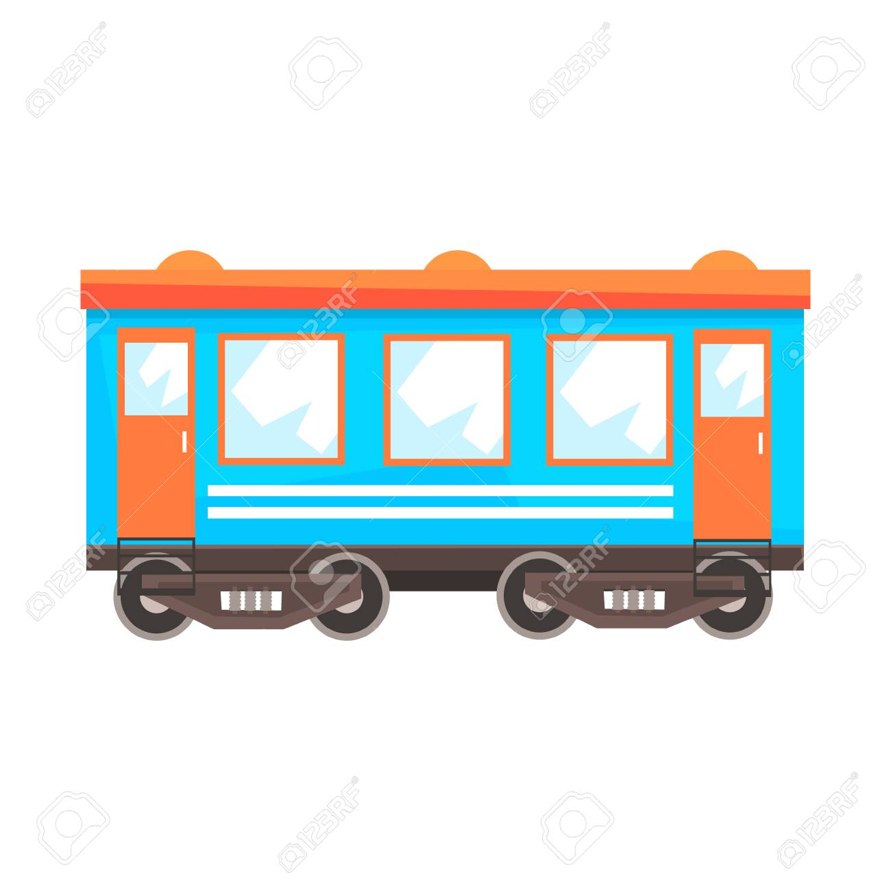 Wagon De Wagon De Chemin De Fer Transport Ferroviaire Illustration