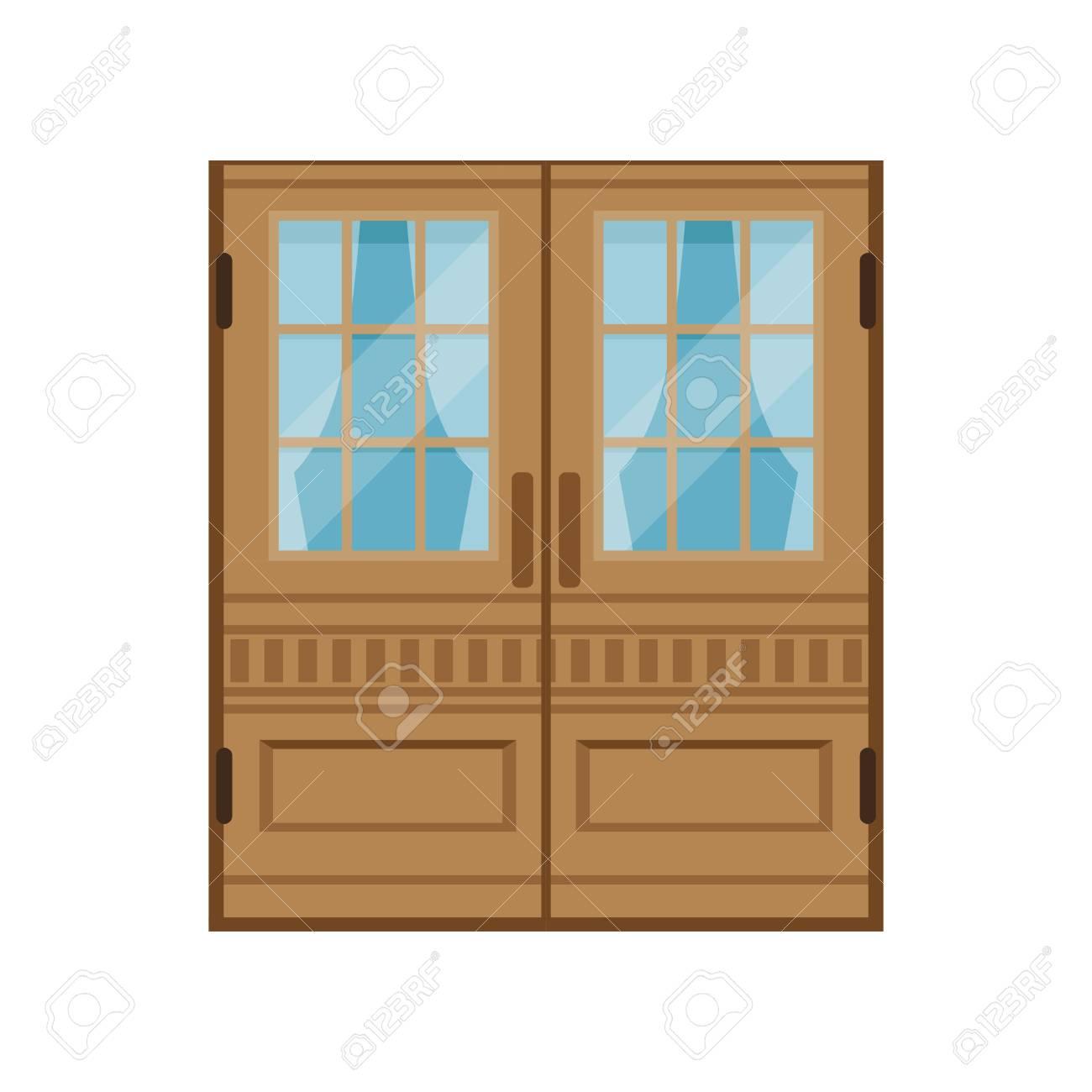 elegant front doors. Classic Double Wooden Doors, Closed Elegant Front Door Vector Illustration Stock - 86317634 Doors W