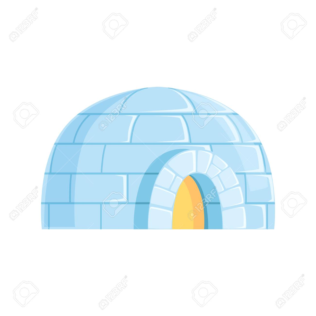 Igloo icy cold house winter built from ice blocks vector igloo icy cold house winter built from ice blocks vector illustration stock vector pooptronica