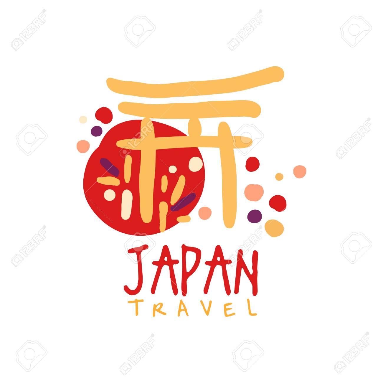 Travel To Japan Logo With Traditional Building Royalty Free Cliparts Vectors And Stock Illustration Image 88259247