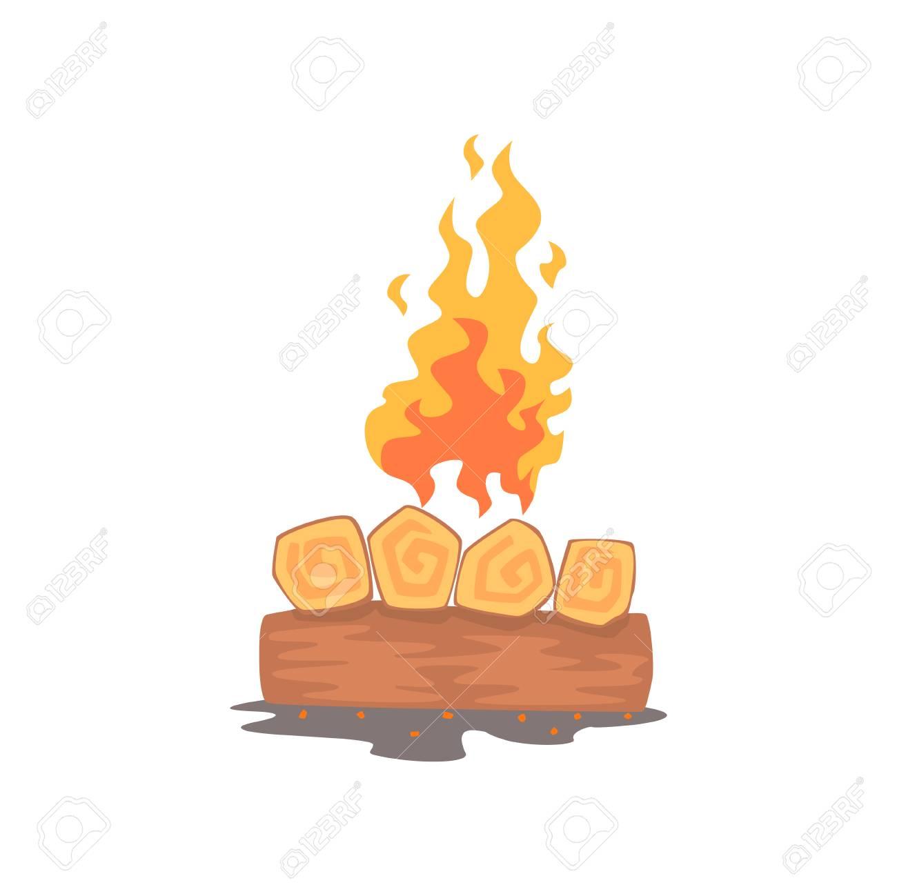 Burning Feu De Camp Feux De Camp Vecteur De Dessin Anime Clip Art