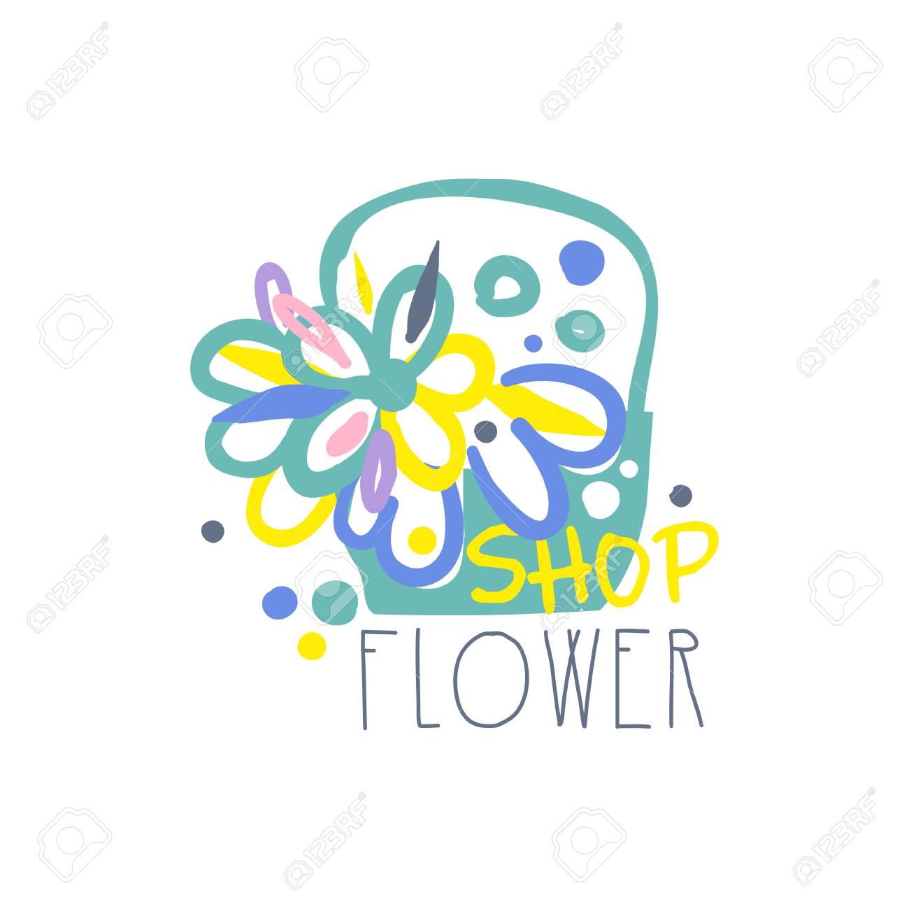 Flower shop template, element for floral boutique, store, flyer,