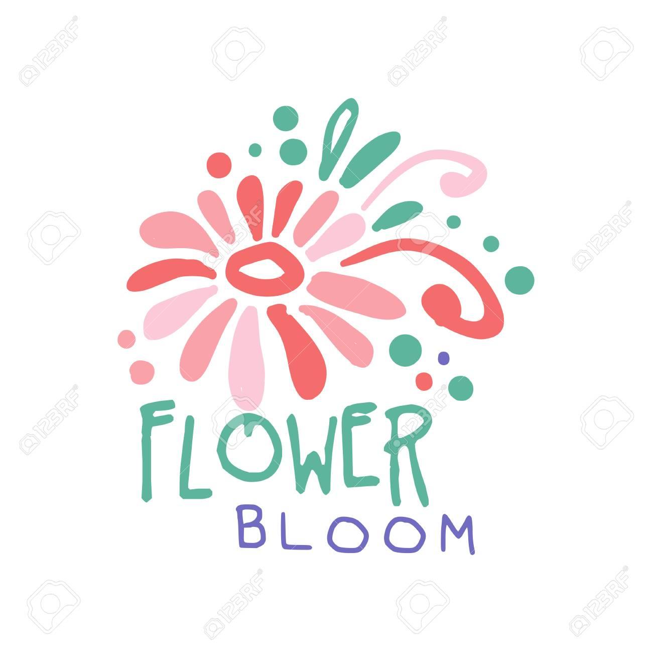 Flower bloom template, element for floral shop, boutique, flyer,