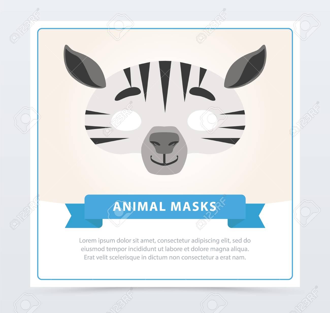 Creative Masquerade Mask Of Zebra. African Or Safari Theme. Jungle ...