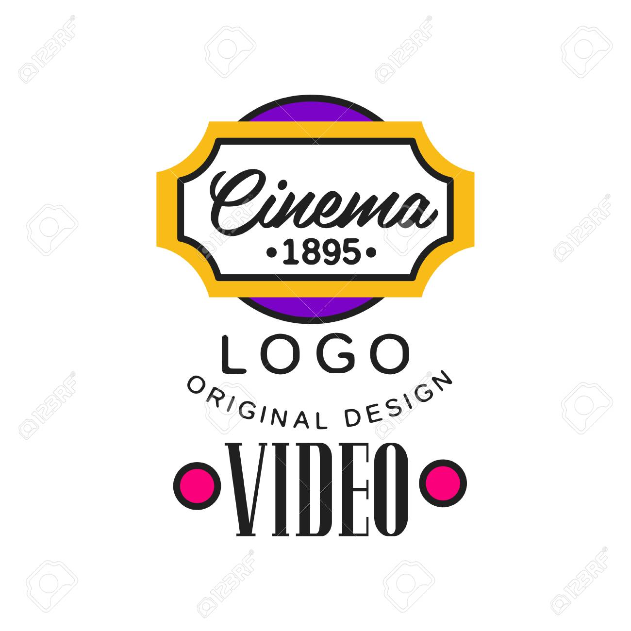 Colorful video company or movie business logo template creative