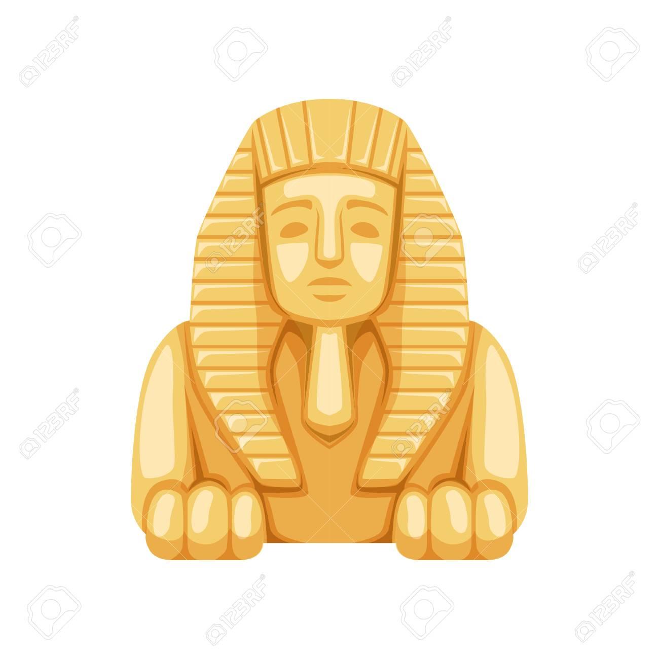 Egyptian Sphinx statue, symbol of ancient Egypt Illustration. - 91385589