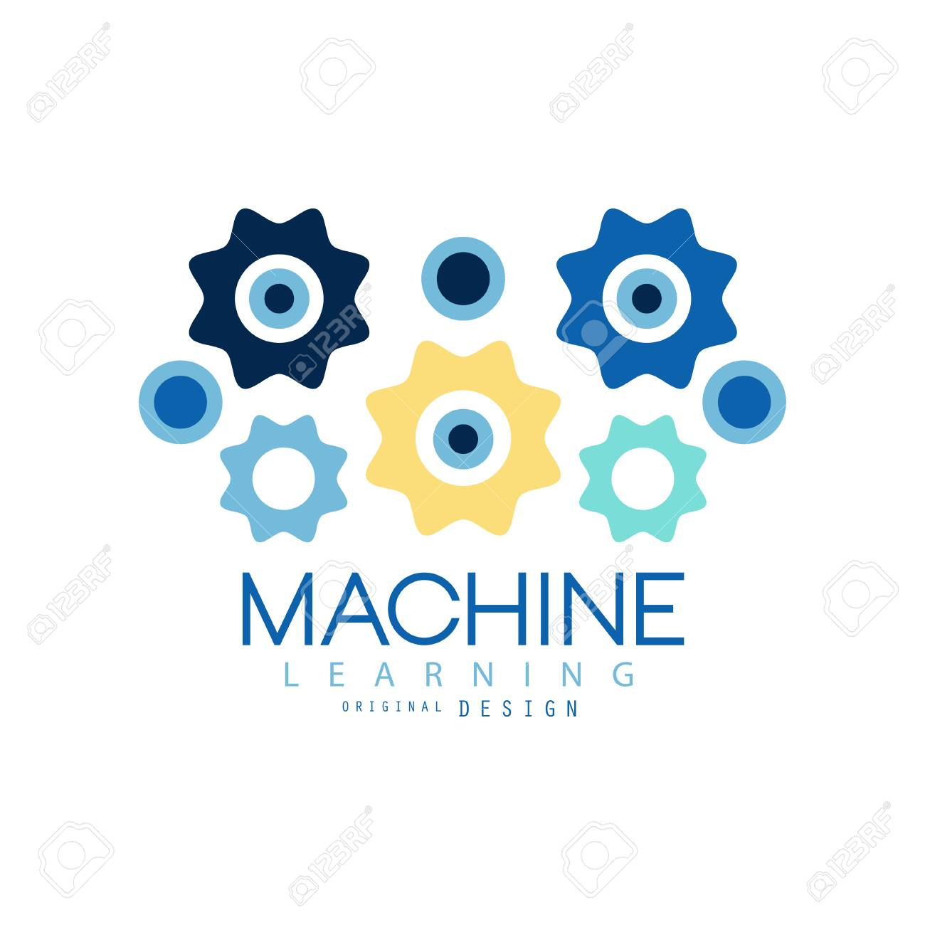 Machine learning process and data science technology symbol