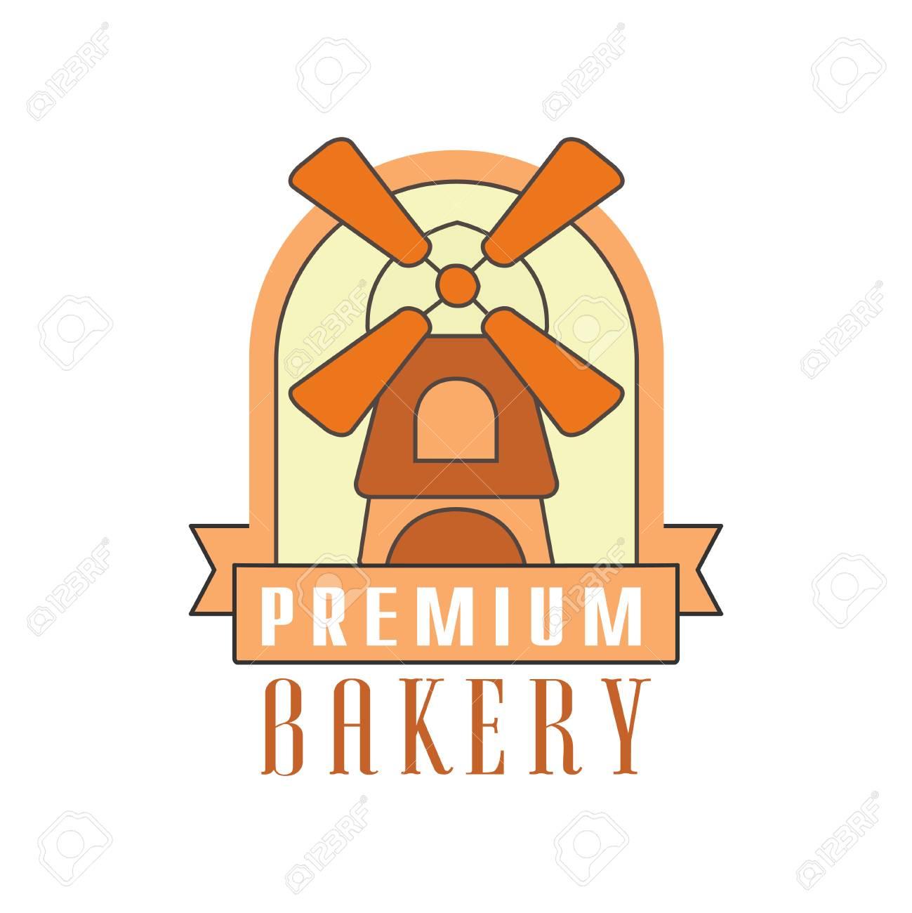 Premium Bakery Logo Template, Bread Shop Badge Retro Food Label ...