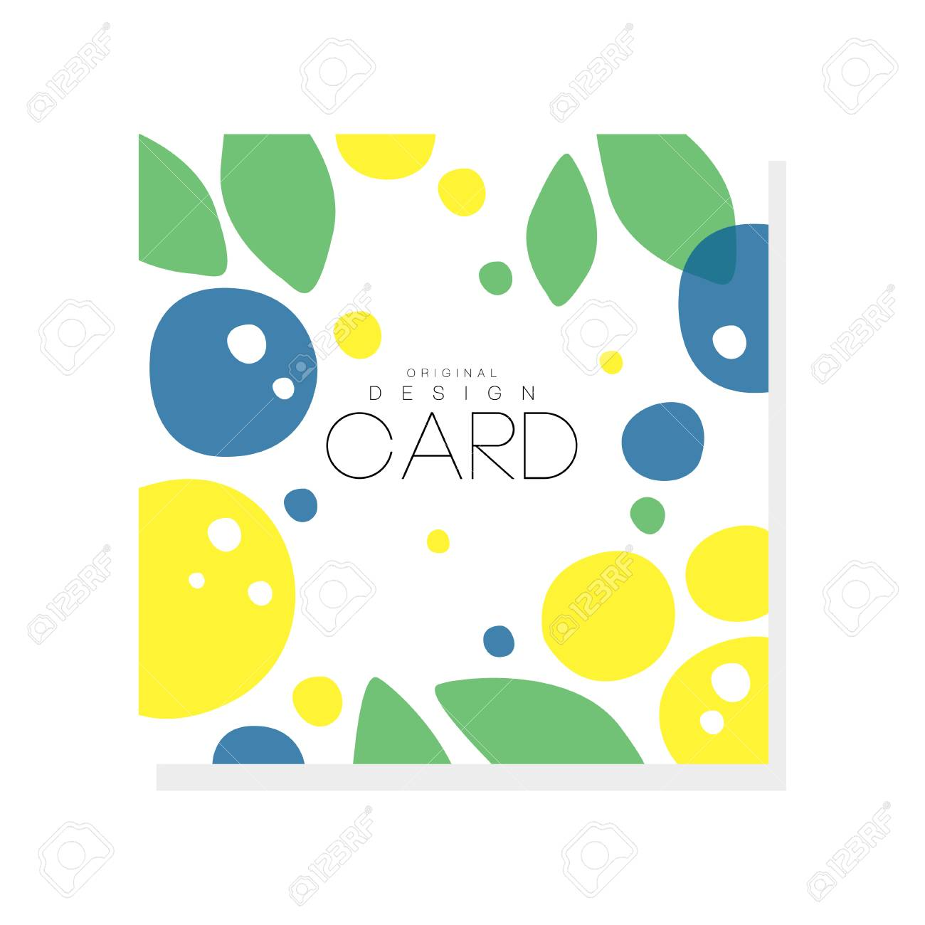 Bright summer card template with plums, lemons and green leaves. Abstract colorful fruits design for invitation, poster or product emblem. Creative vector illustration isolated on white background. - 94314520