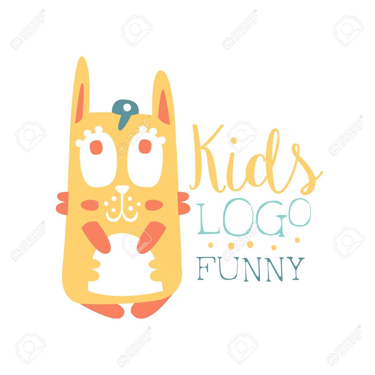 Kids icon , funny squirrel original design, baby shop label,