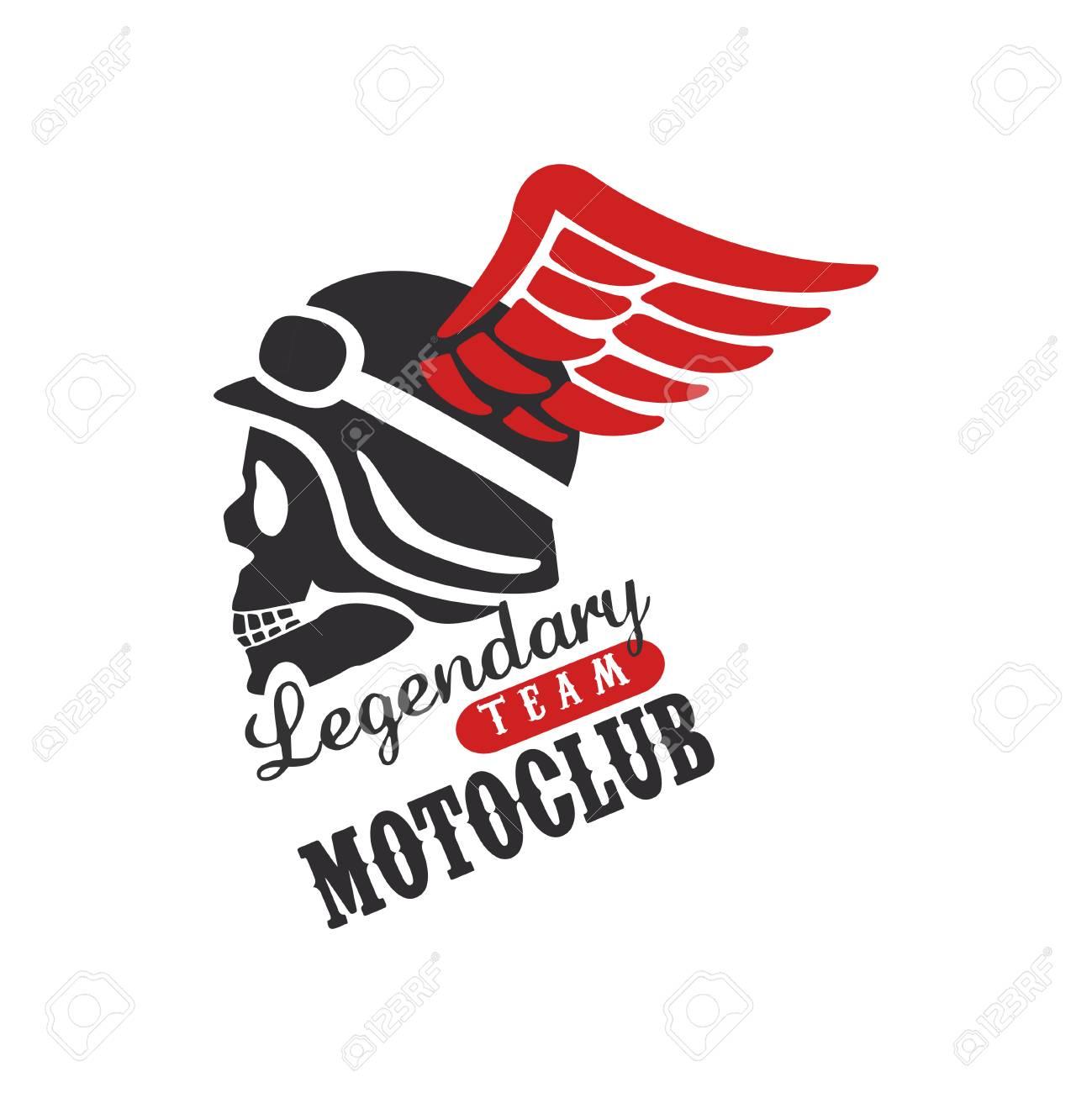 Legendary Team Motoclub Logo Design Element For Motor Or Biker