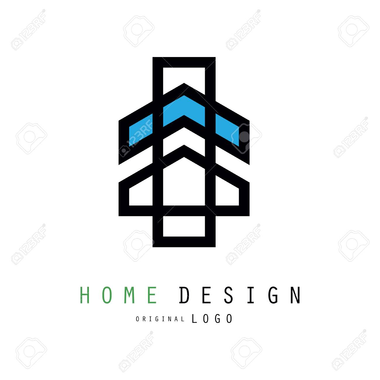 Original Linear Logo For House Design Company Or Business With ...