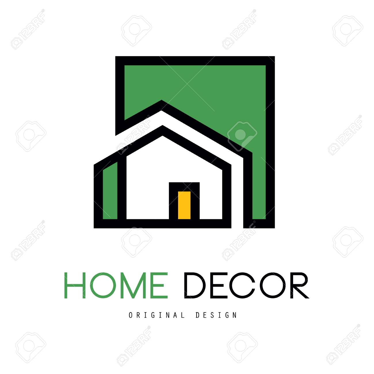 Geometric Logo Template With Abstract Building Original Linear Royalty Free Cliparts Vectors And Stock Illustration Image 98702181