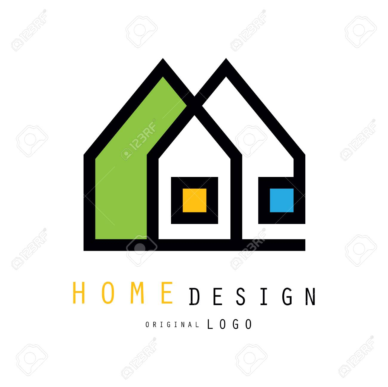 Abstract City Houses For Logo Design Of Construction Or Architecture Royalty Free Cliparts Vectors And Stock Illustration Image 98702140