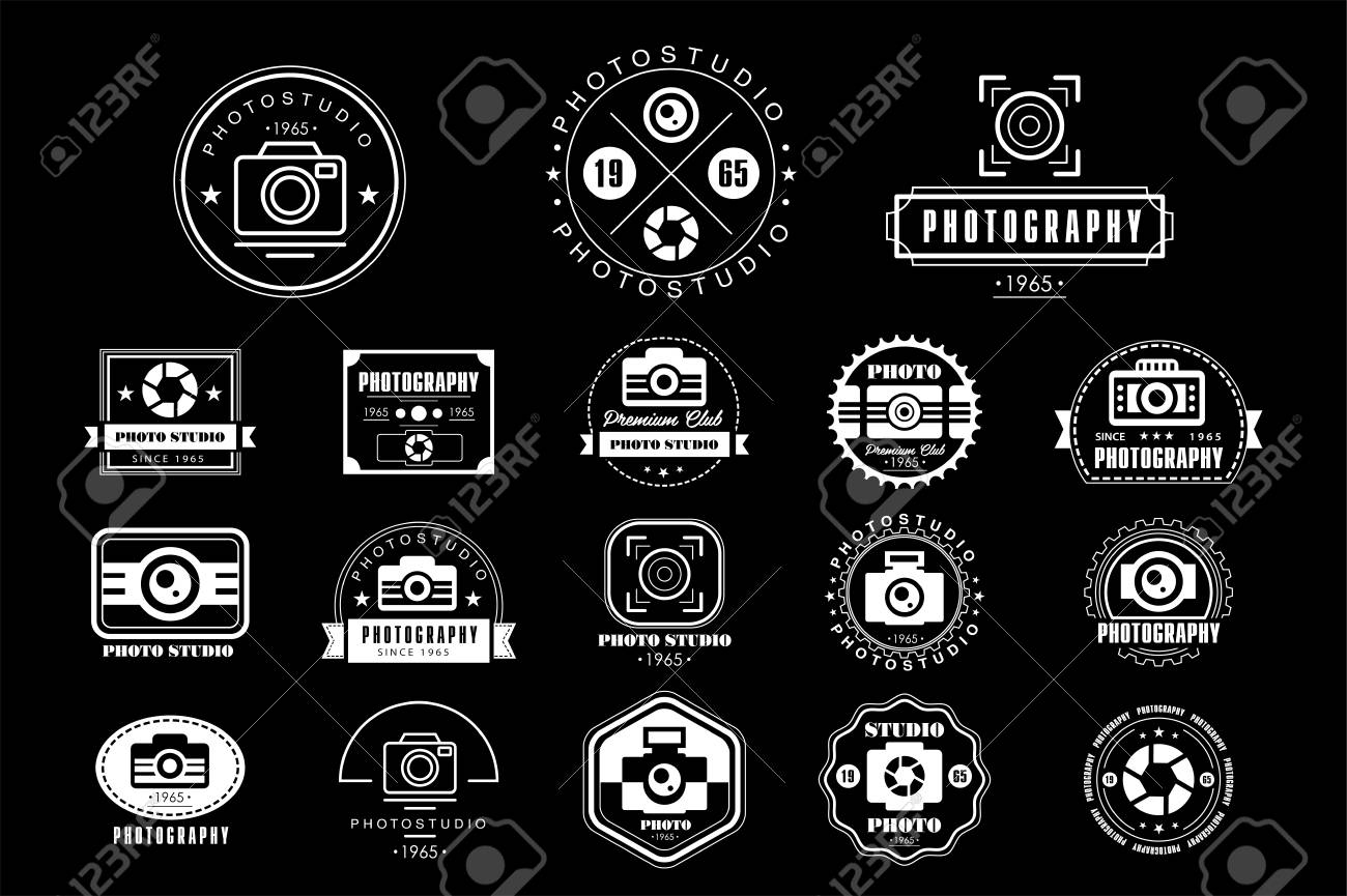 Collection Of Photography Logo Templates Photo Studio Vintage