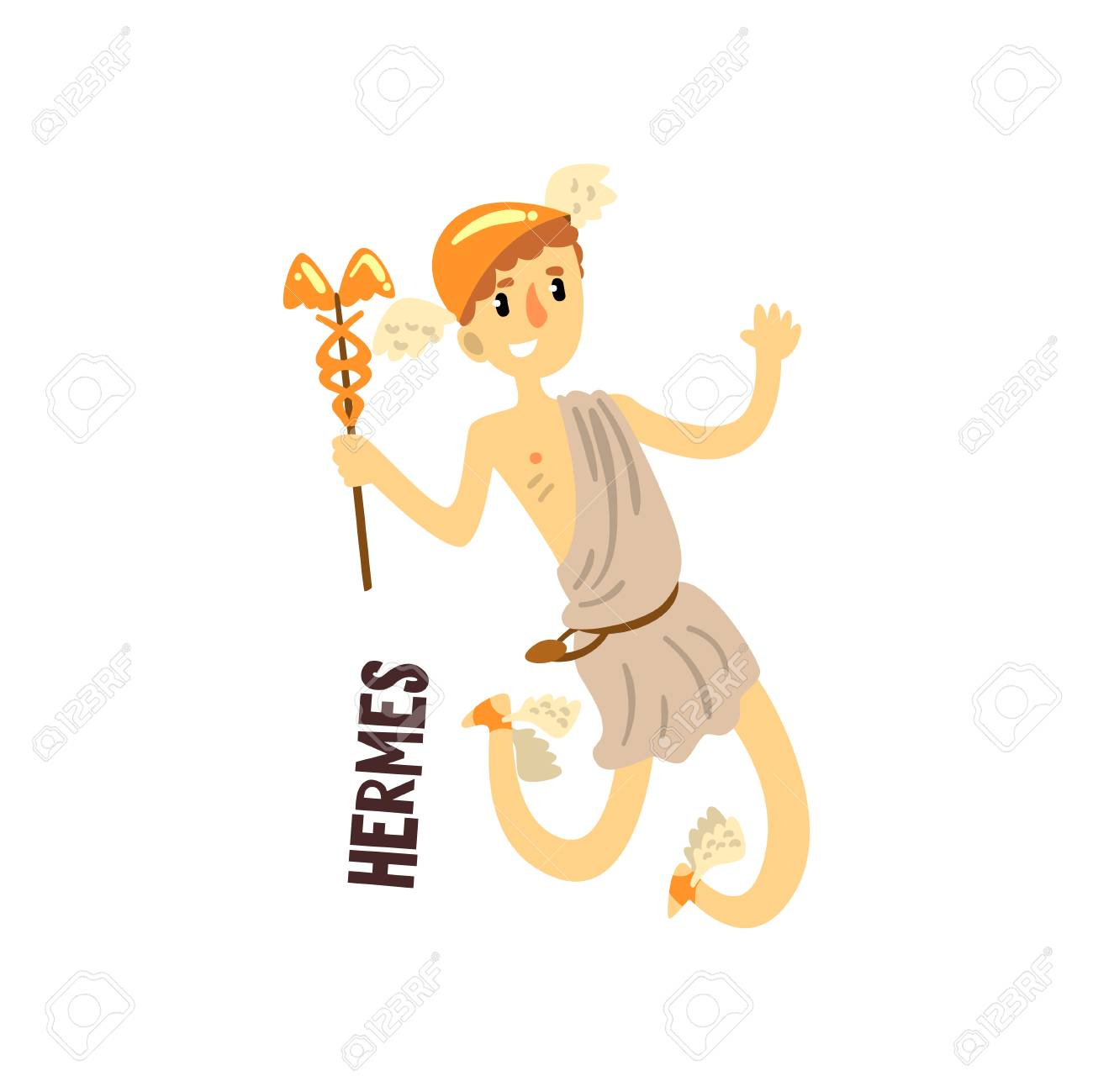 Hermes Olympian Greek God Ancient Greece Mythology Character