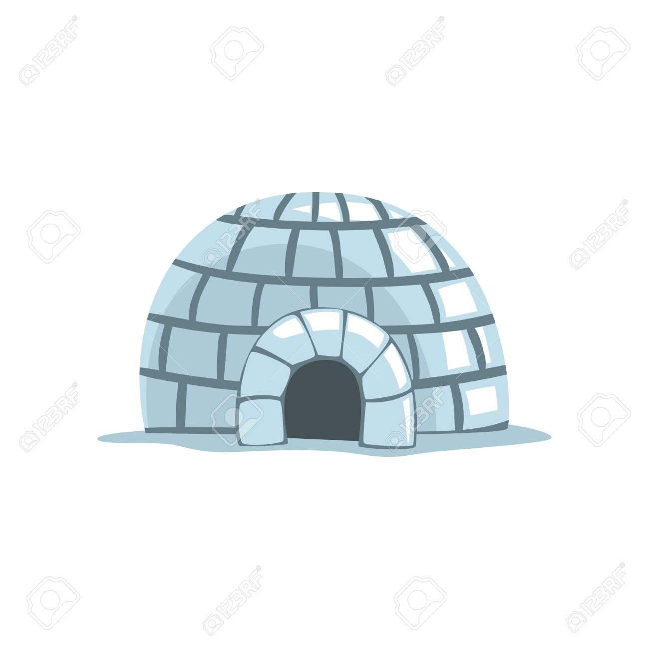 Igloo, eskimo house vector Illustration on a white background - 104333597