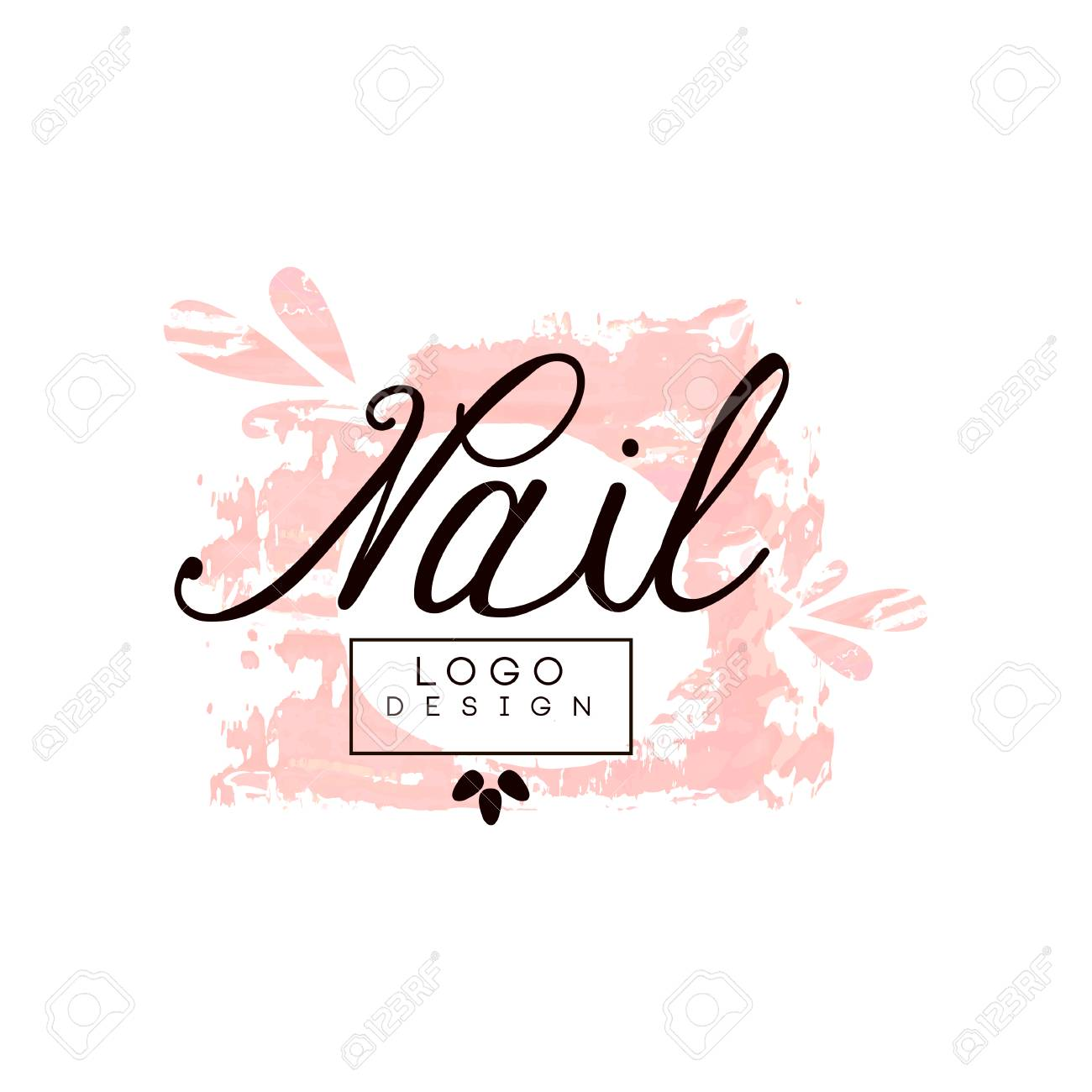 Nail Design Template For Nail Bar Manicure Saloon Manicurist